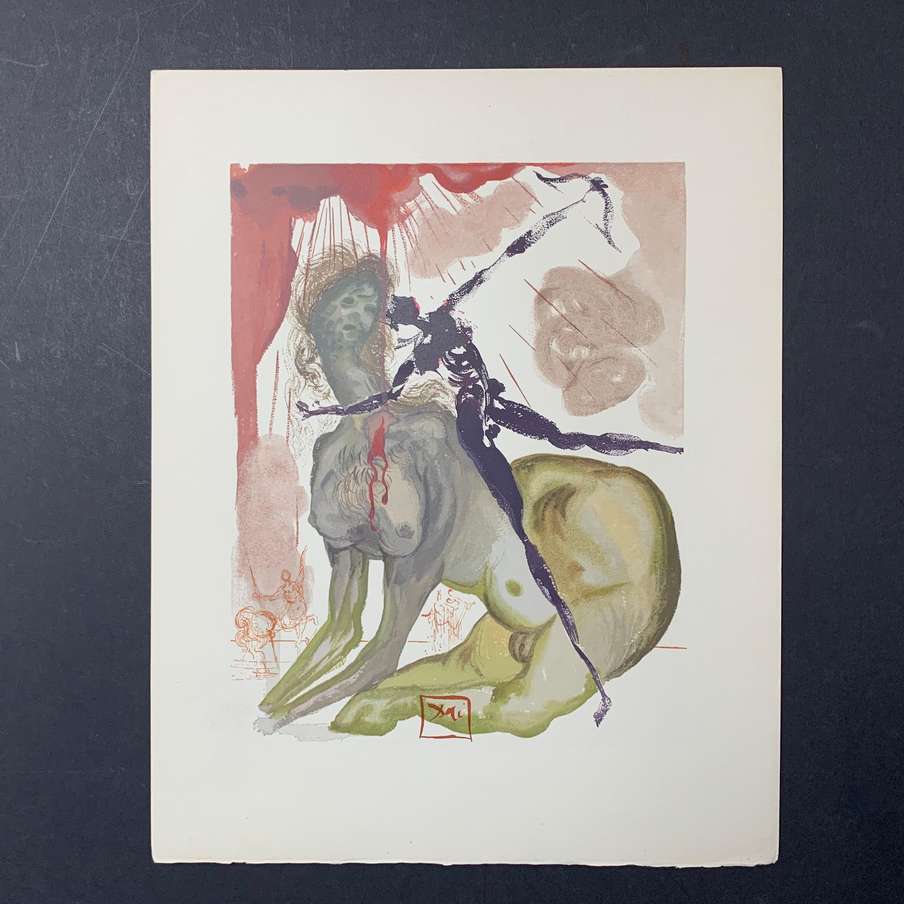 "Salvador Dali's ""The Minotaur"" Print"