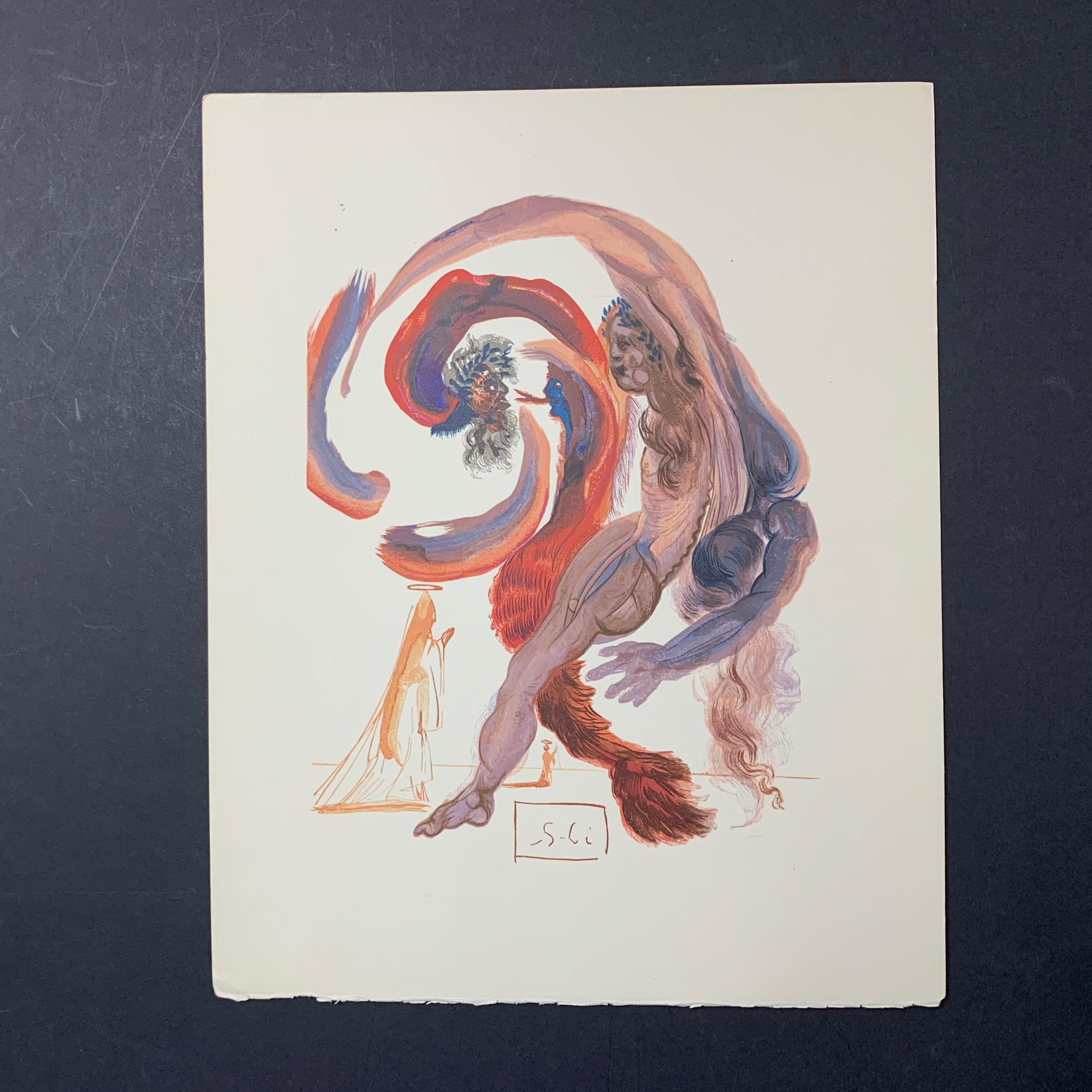 "Salvador Dali's ""The Fourth Terrace: Accidia"" Print"