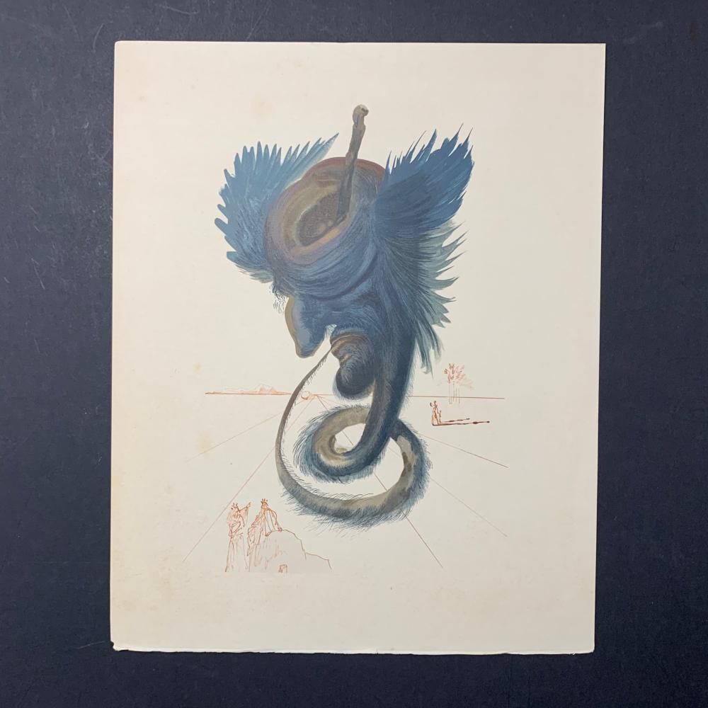 "Salador Dali's ""Divine Comedy: Inferno Canto 27"" Print"