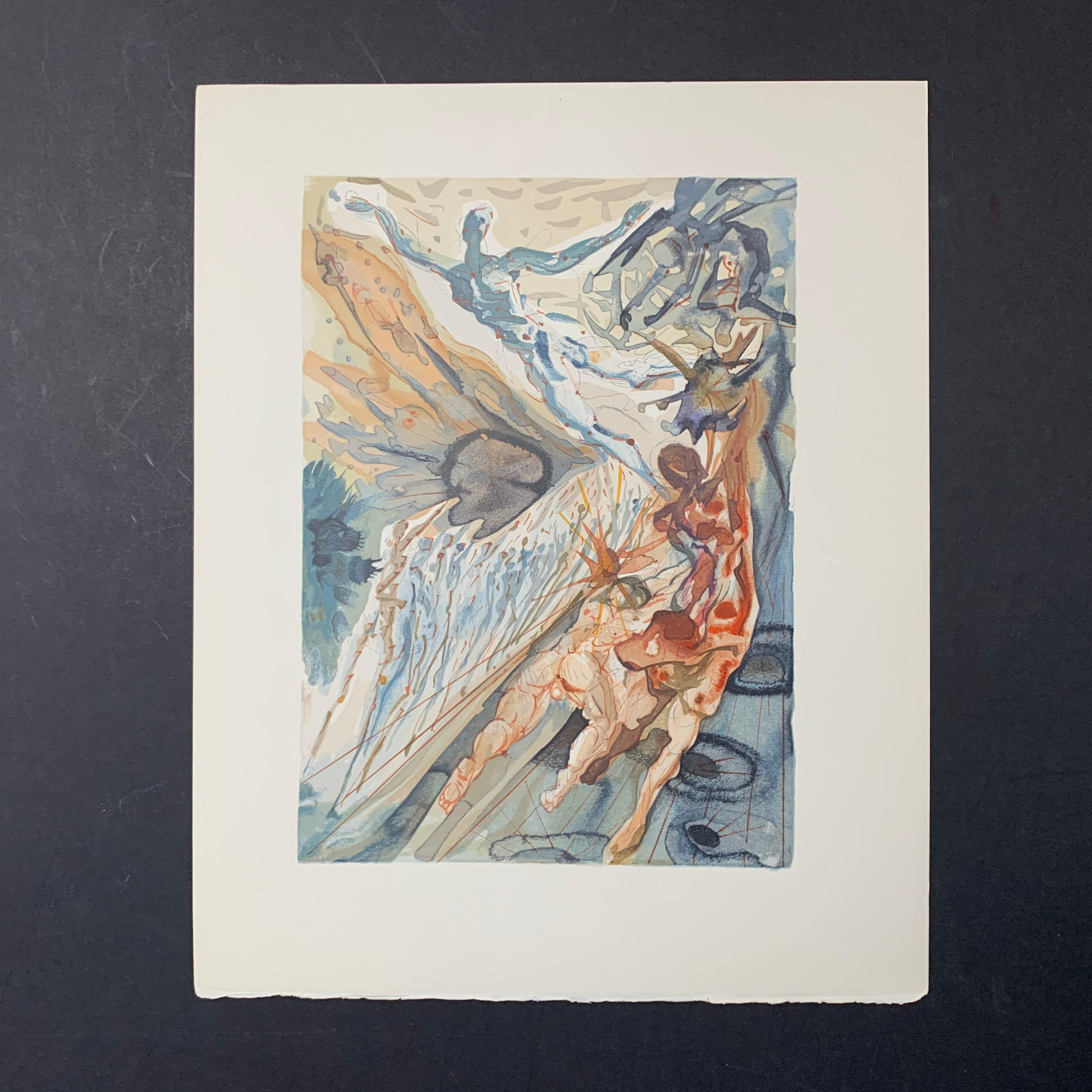 """Salvador Dali's """"Encounter With Two Groups Of The Lusty Ones"""" Print"""