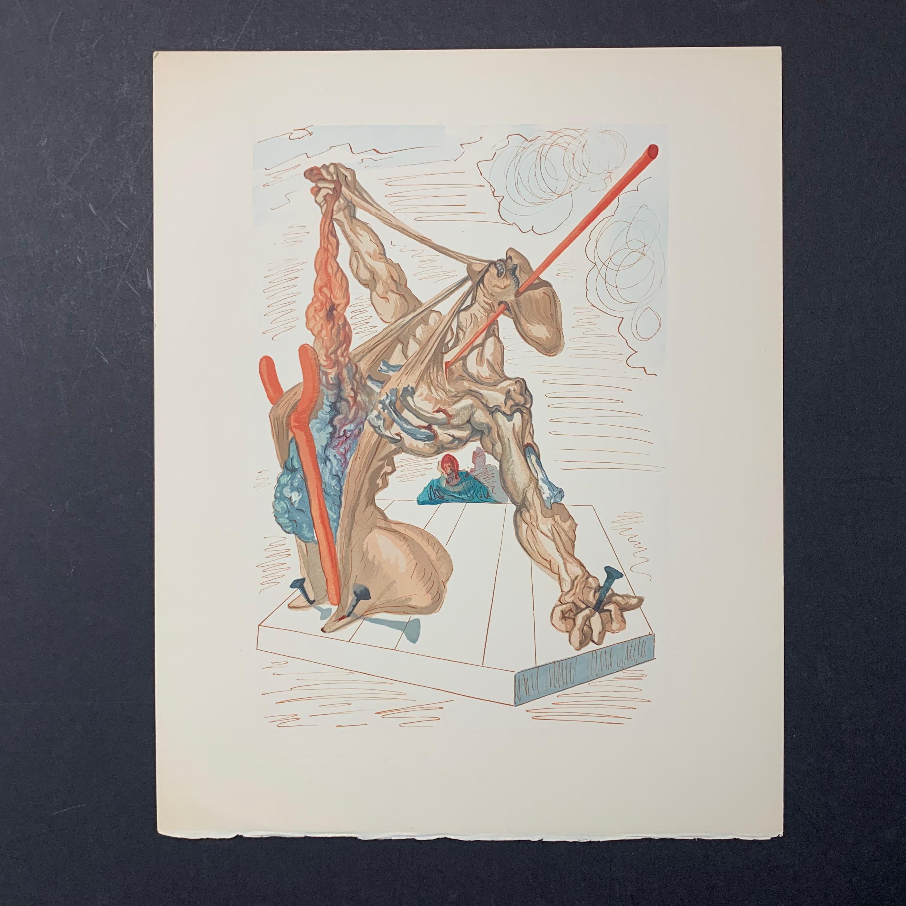 "Salvador Dali's ""Inferno Canto 28"" Print"