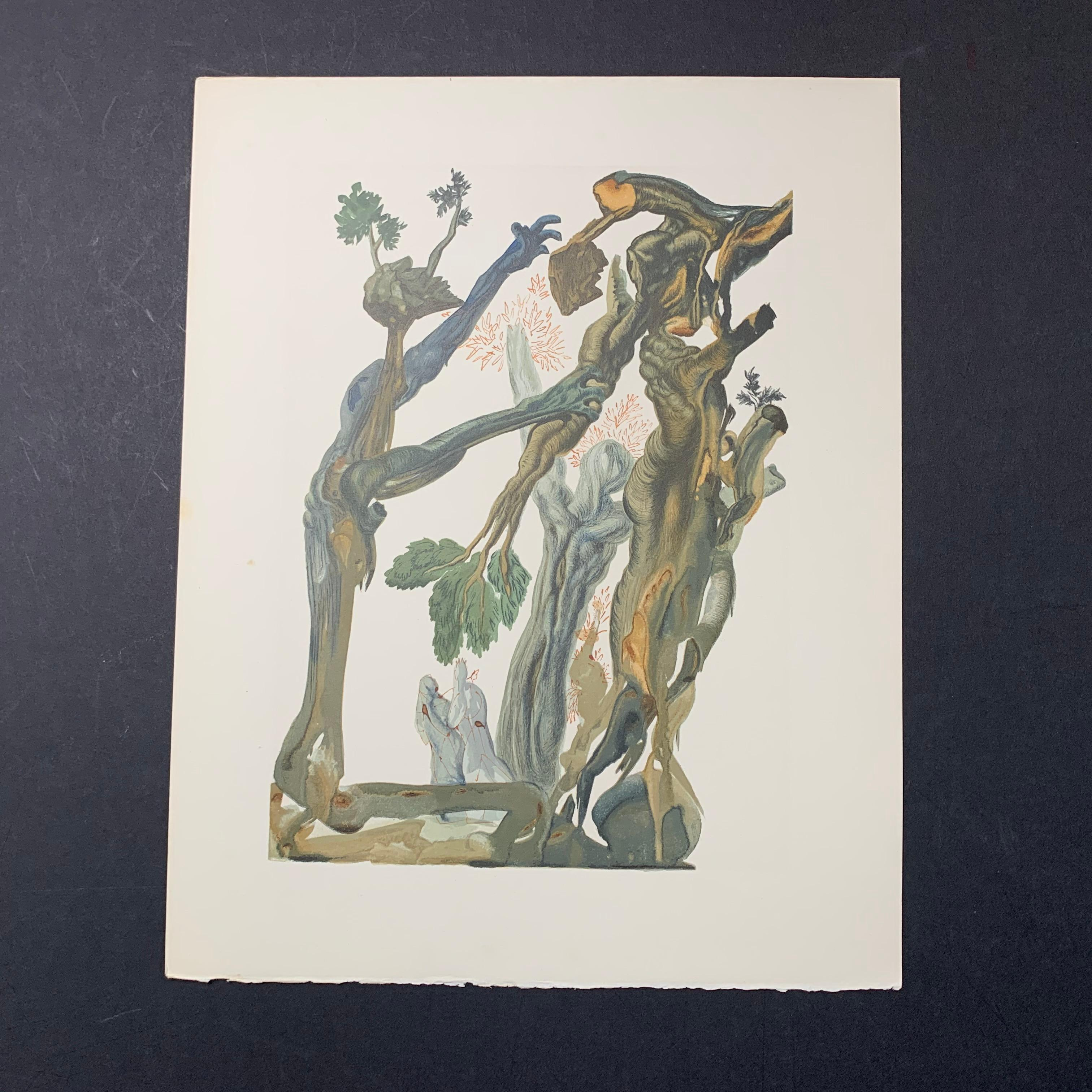 """Salvador Dali's """"The Forest of Those Who Committed Suicide"""" Print"""