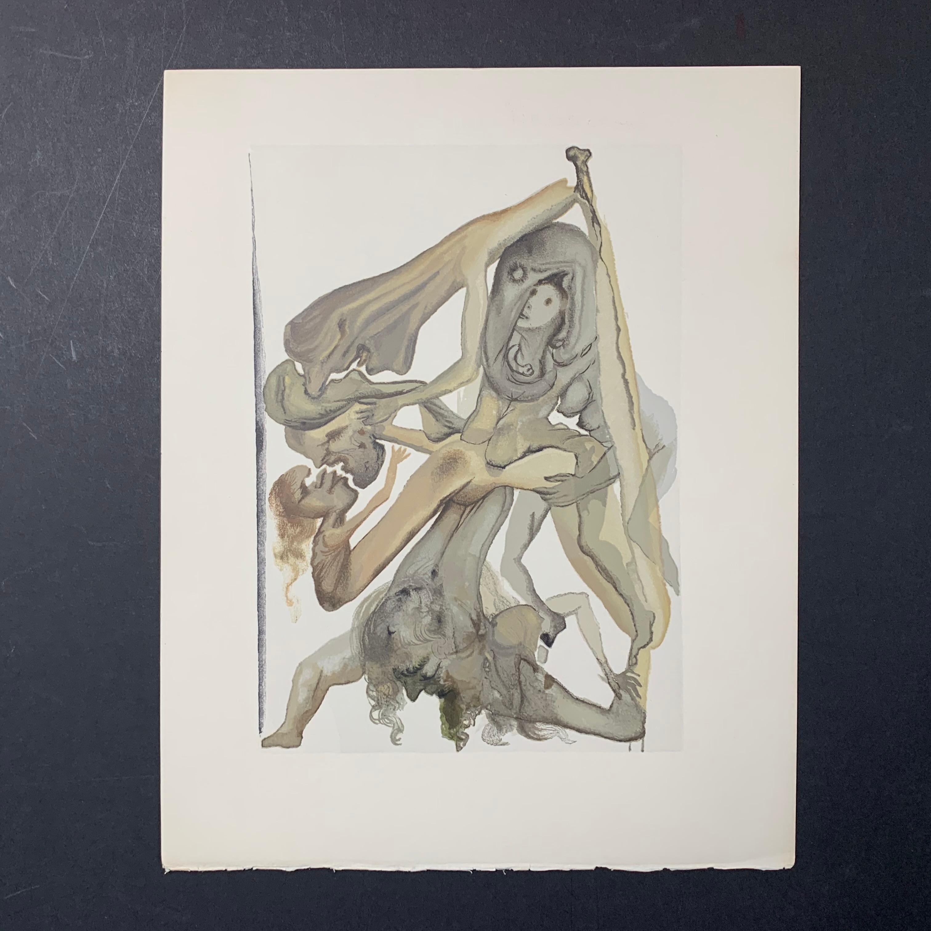 "Salvador Dali's ""Inferno Canto 11"" Print"