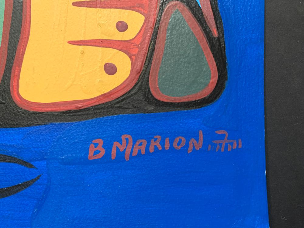 """Brian Marion's """"Loon Family and Fish Unity"""" Original"""