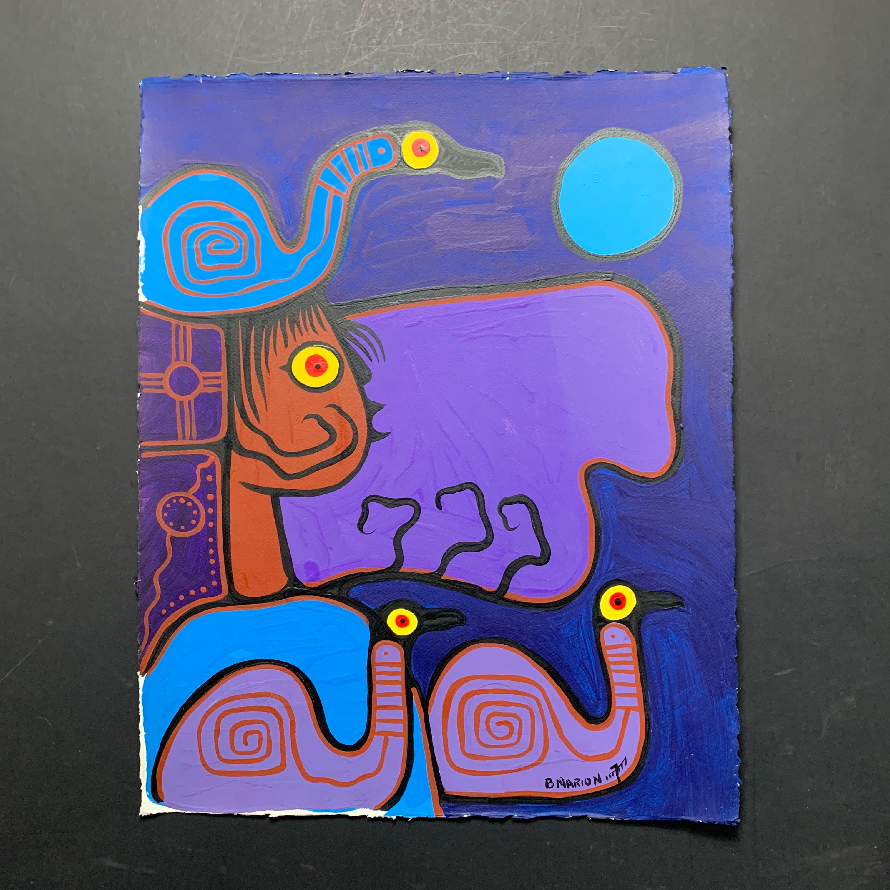 "Brian Marion's ""Shaman with Snails"" Original"