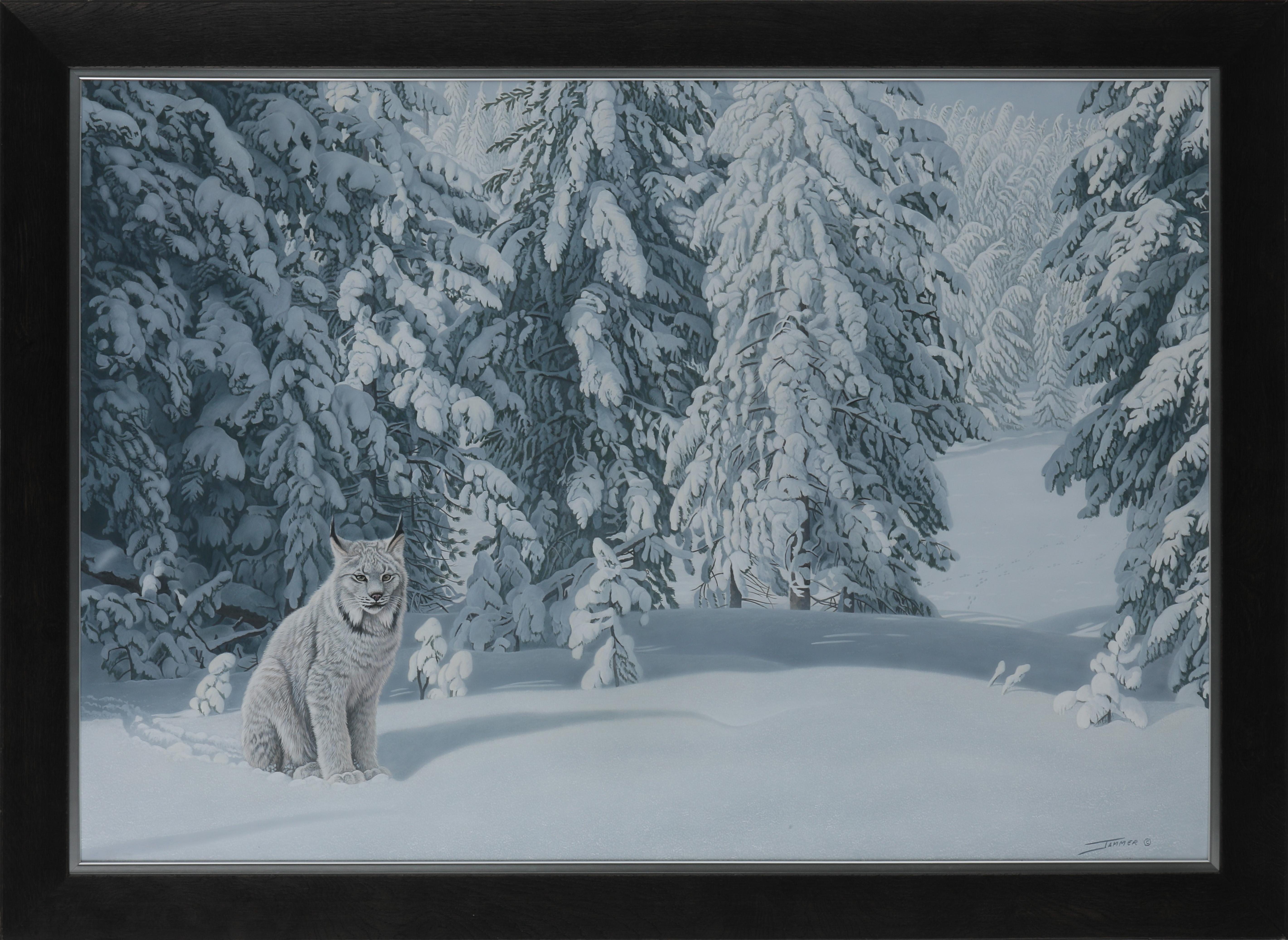 "Clinton Jammer's ""Crystal Palace - Canada Lynx"" Original Painting"