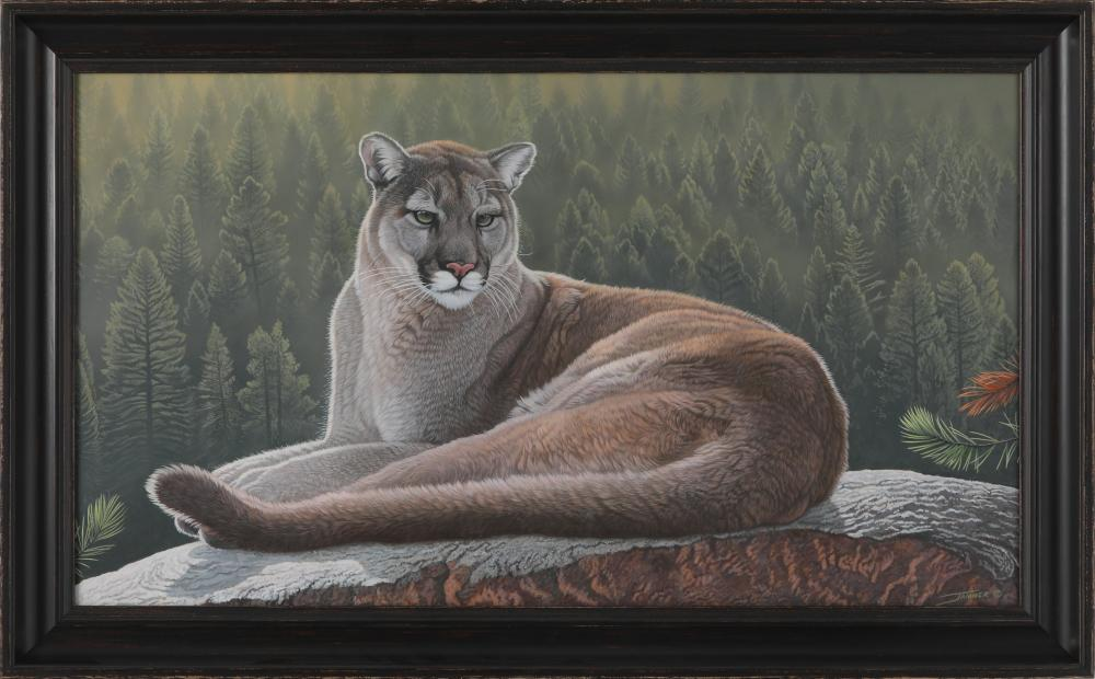 "Clinton Jammer's ""Haunted Forest - Cougar"" Original Painting"