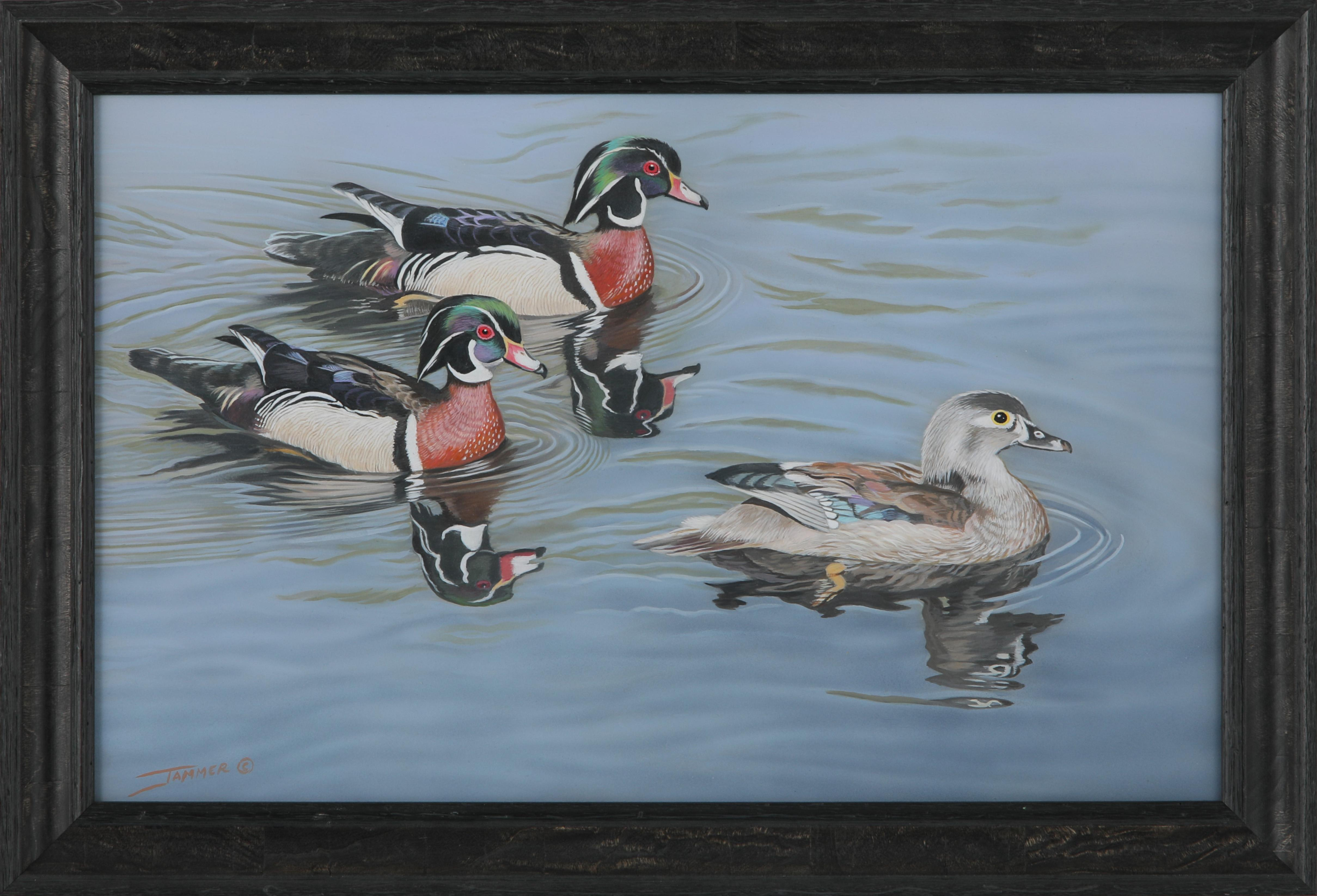 "Clinton Jammer's ""Glorious Pursuit - Wood Duck"" Original Painting"
