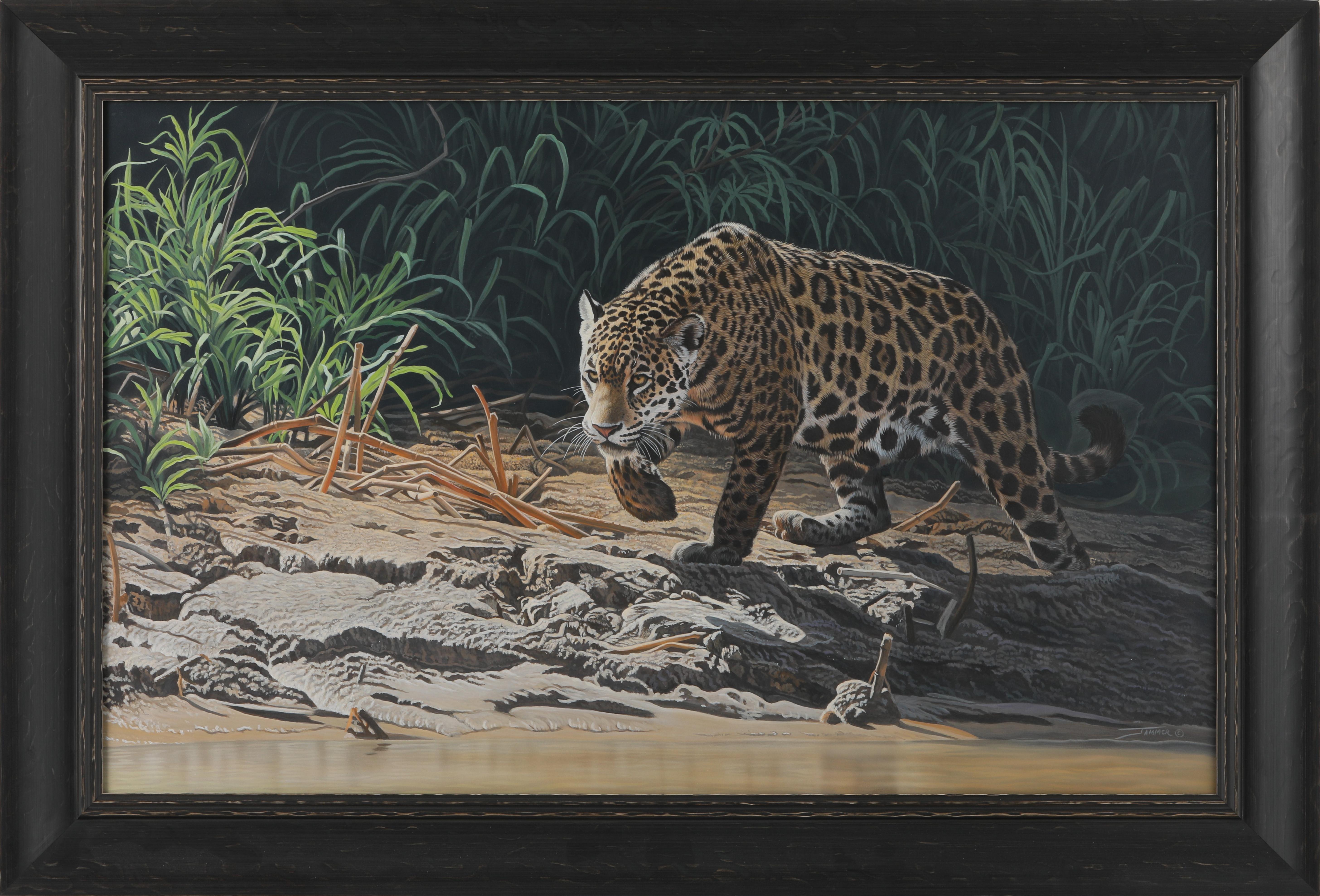 """Clinton Jammer's """"Pantenal Huntress"""" Original Painting"""