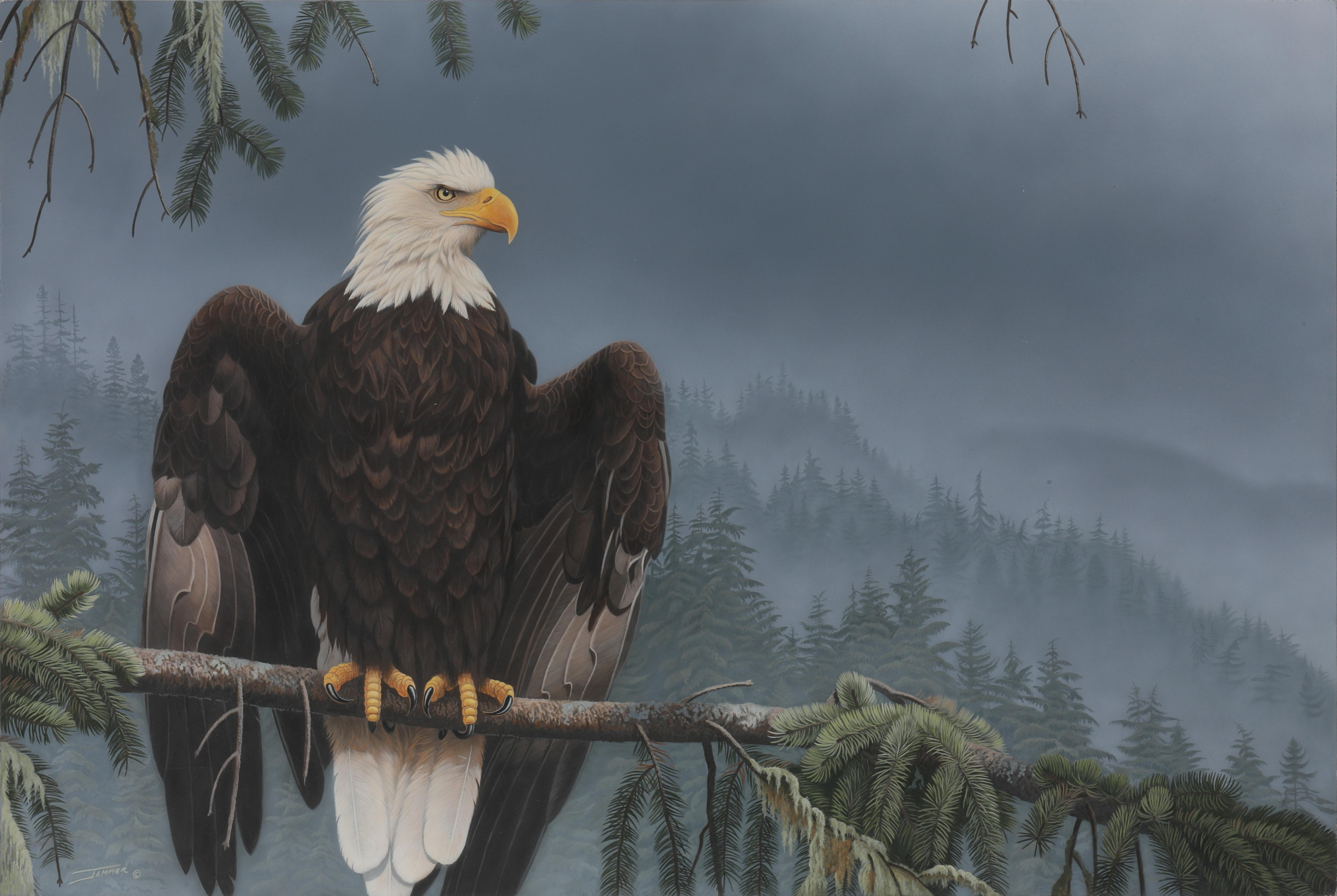 """Clinton Jammer's """"Coat of Arms - Bald Eagle"""" Original Painting"""