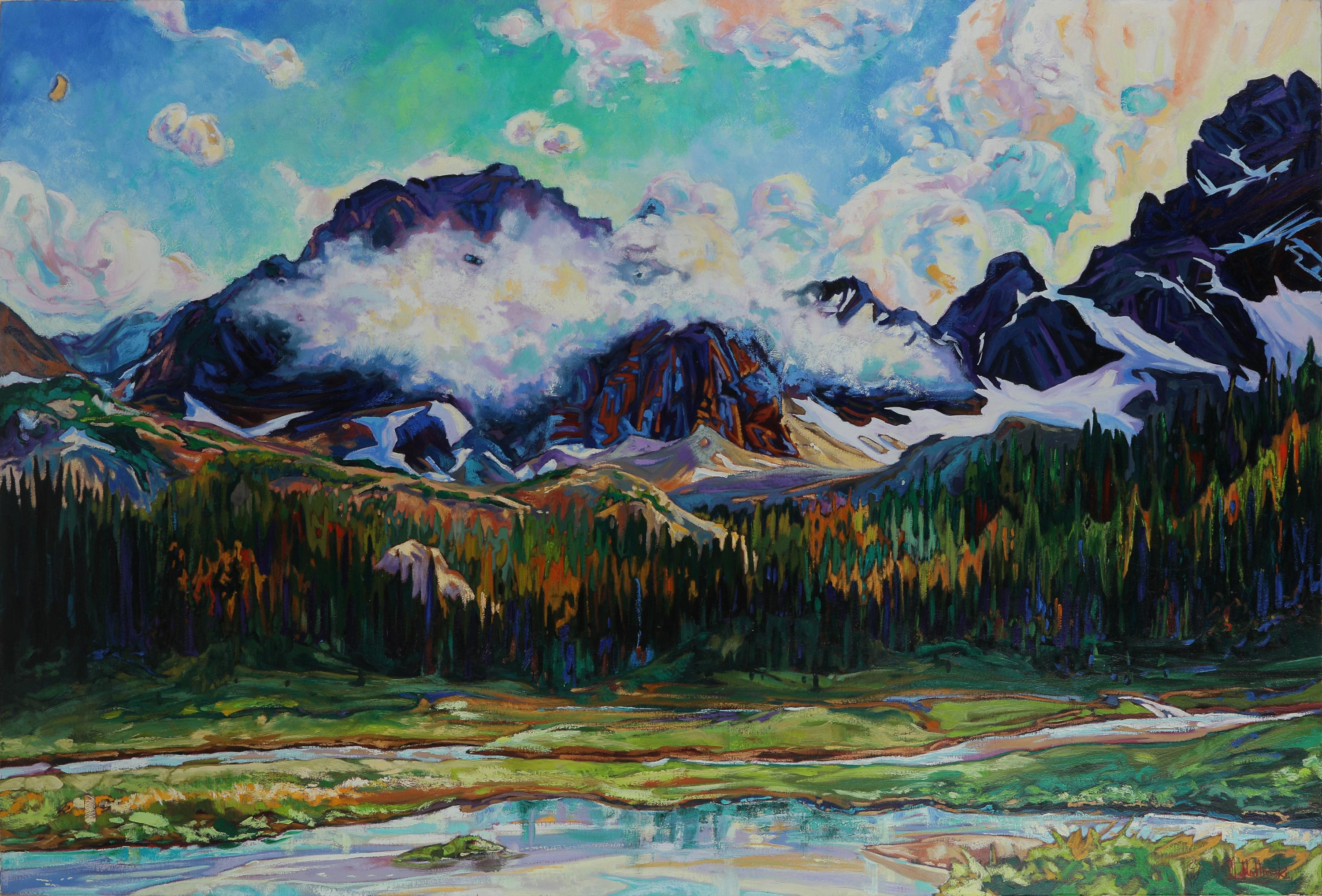 "Dominik Modlinski's ""Tomkin Valley"" Original 4'x6'"