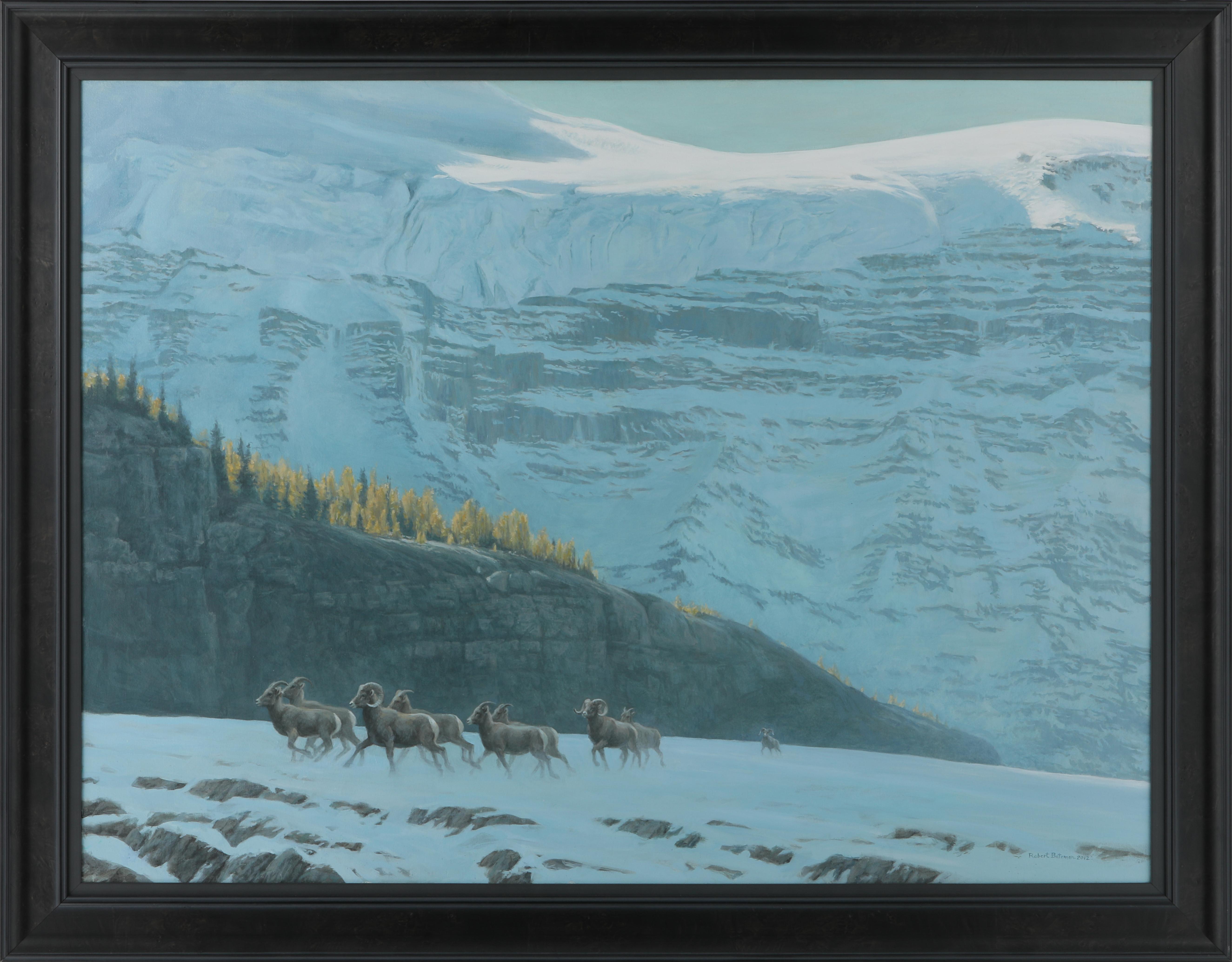 "Robert Bateman's ""Big Horn Sheep Herd"" Original Painting"