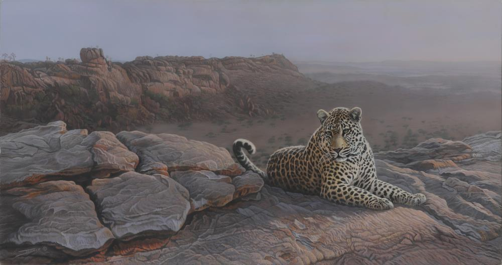 """Clinton Jammer's """"This Close to Heaven - Leopard"""" Original Painting"""