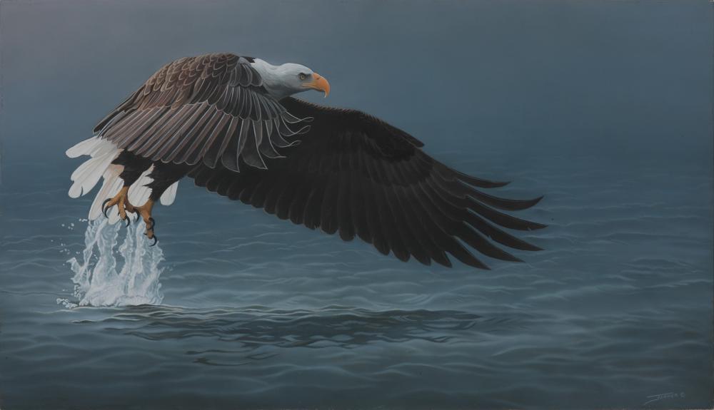 "Clinton Jammer's ""Razor Edge - Bald Eagle"" Original Painting"
