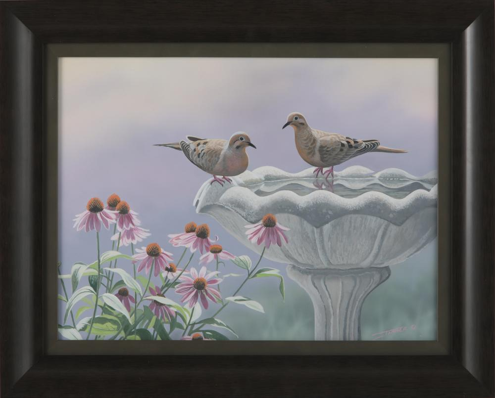 """Clinton Jammer's """"Morning Dove Study"""" Original Painting"""