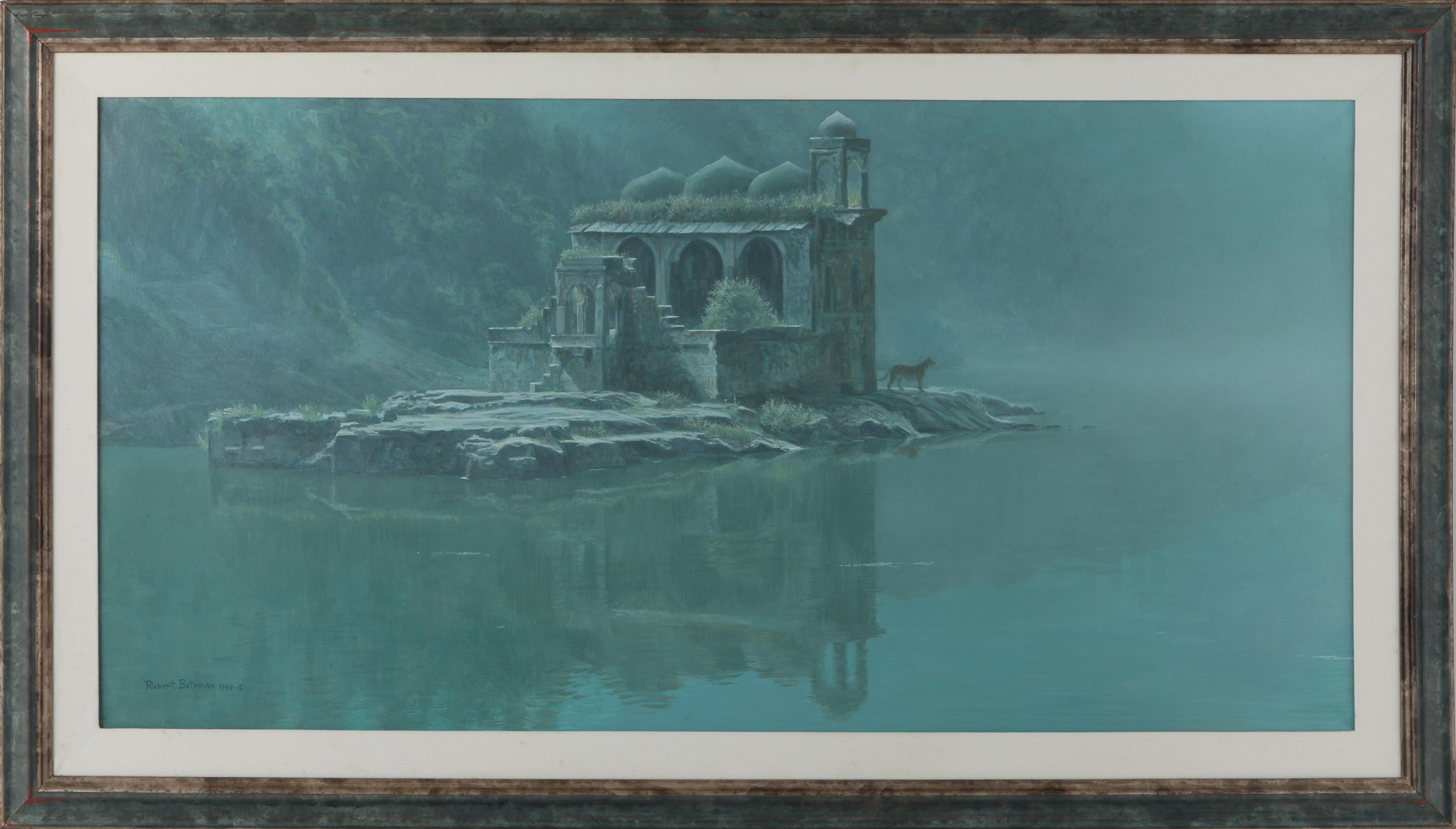 "Robert Bateman's ""Hindu Temple Tiger"" Original Painting"