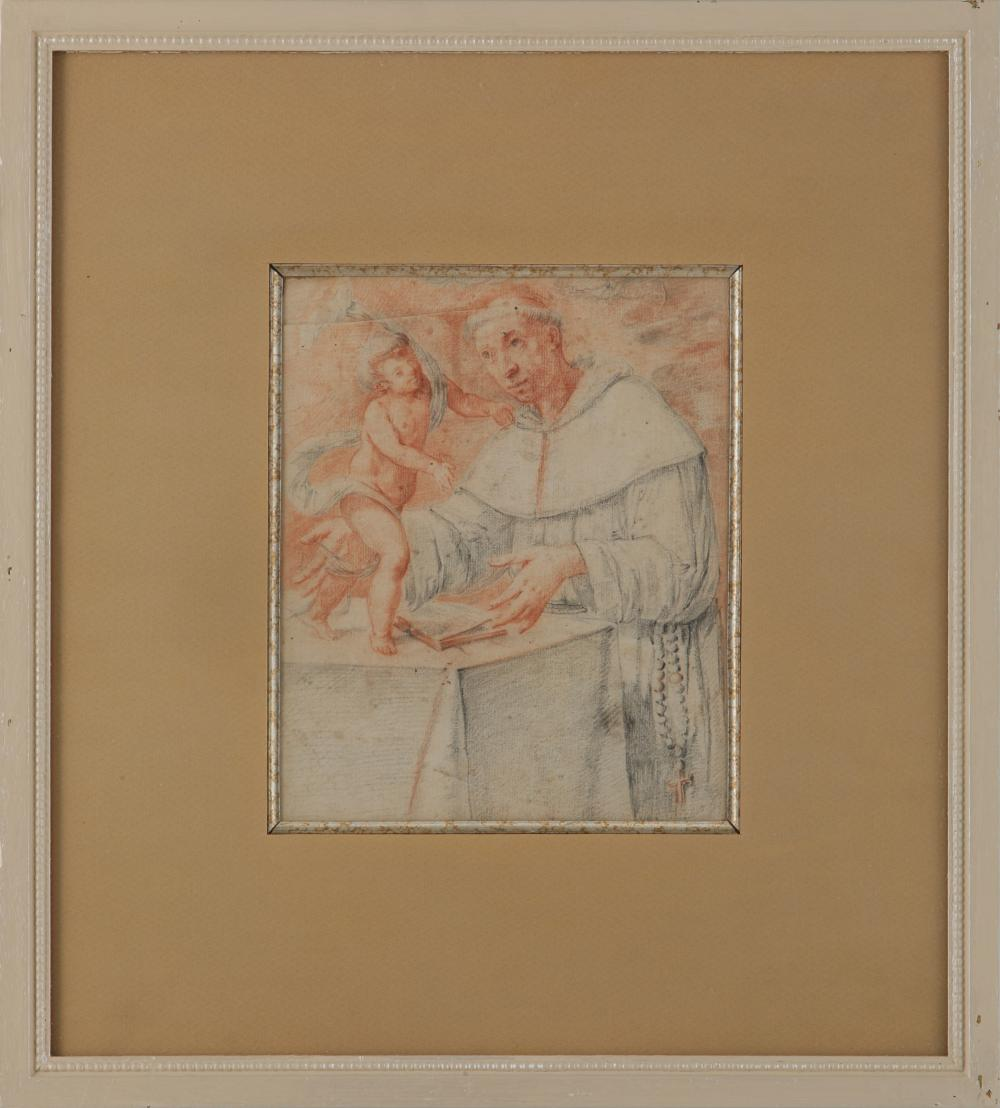 """Gregory Pagani """"An Apostle's Vision of The Infant Christ"""" Original Renaissance Drawing"""