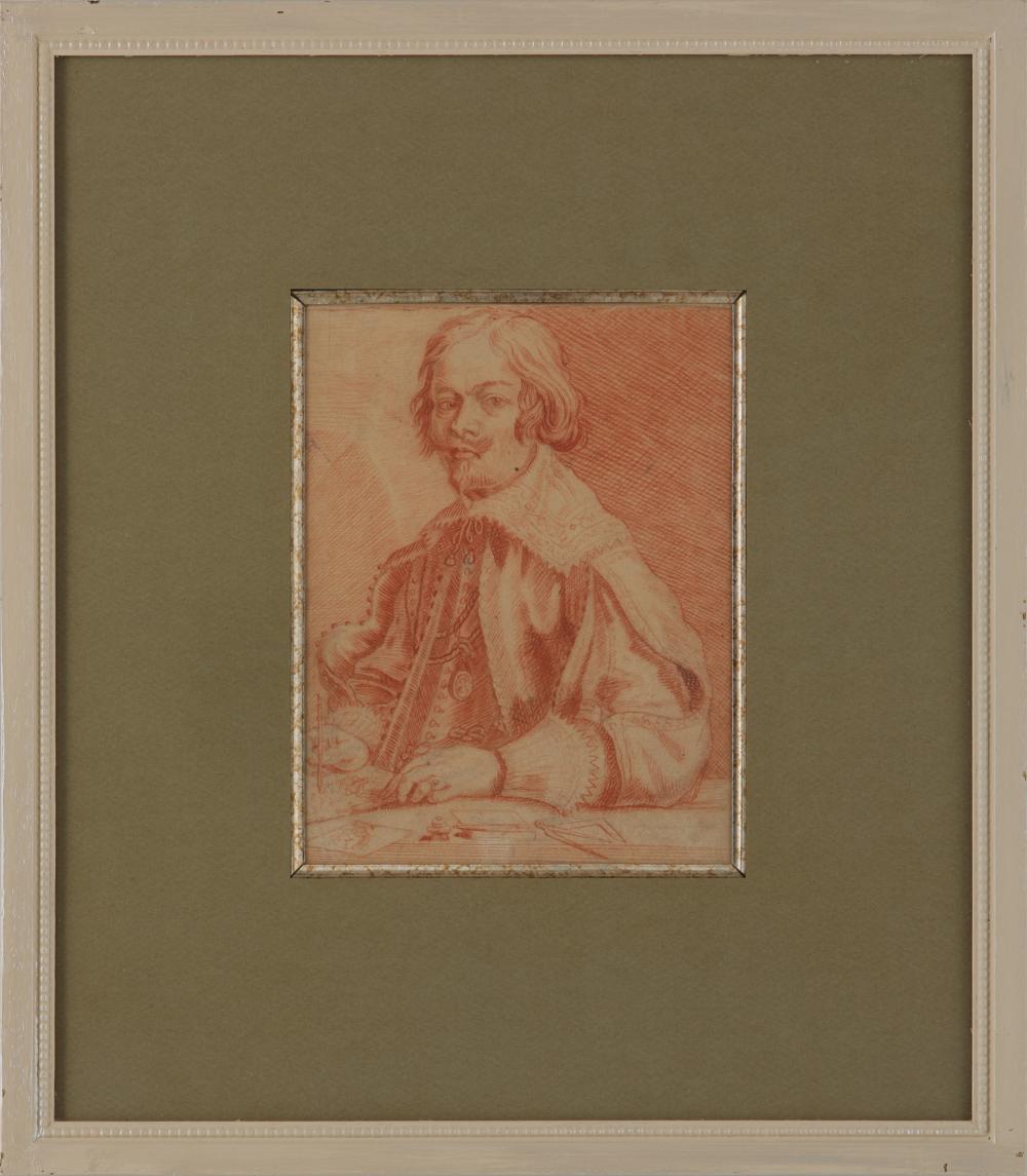 """Jacques Callot (1592-1635) """"Self Portrait"""" Original Renaissance Drawing"""