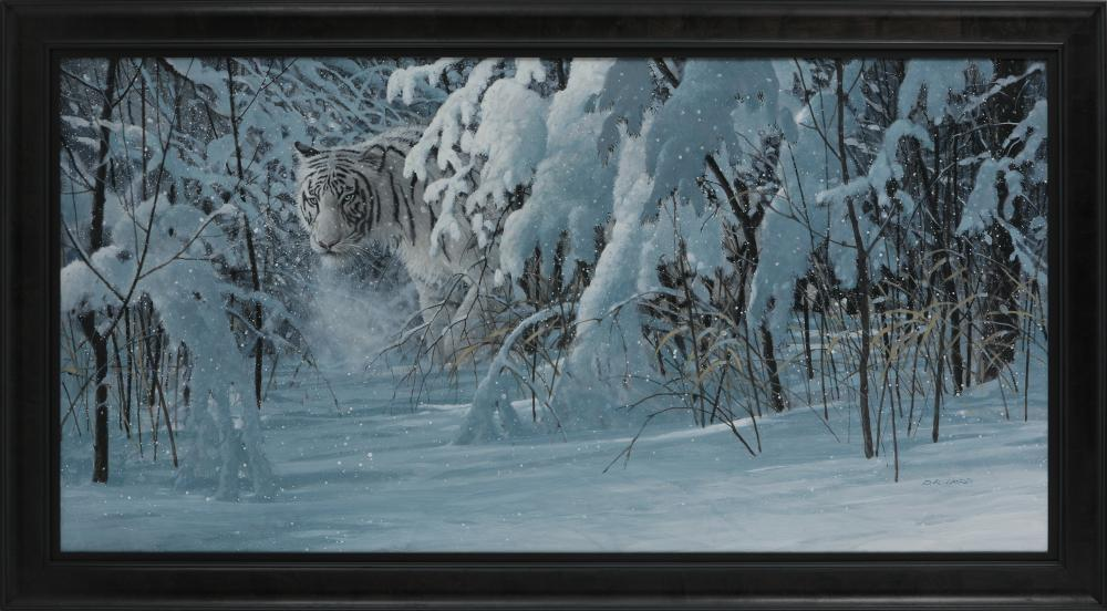 "Doug Laird's ""Bengal White"" Framed Original Painting"