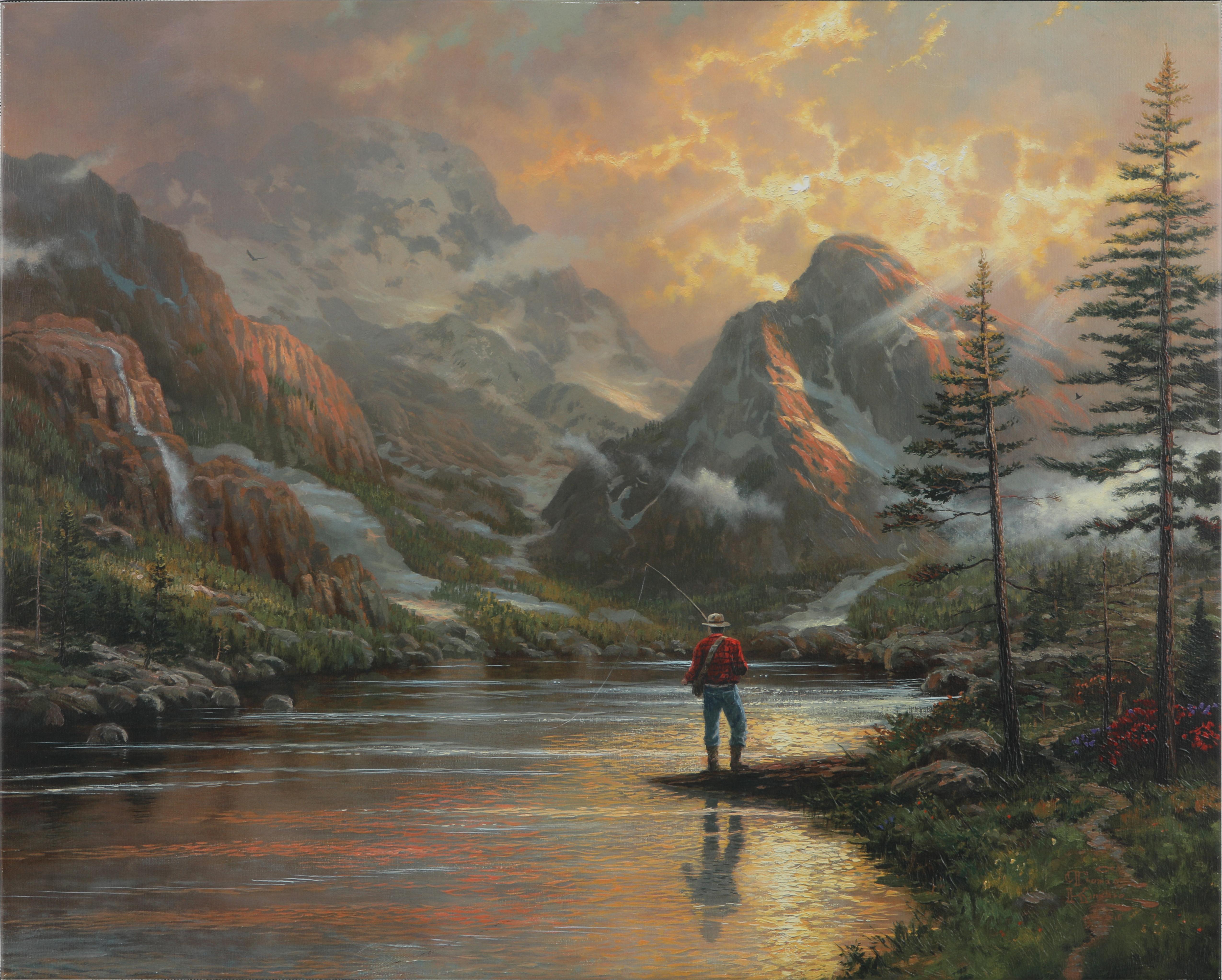 "Thomas Kinkade's ""Almost Heaven"" Open Edition Enhanced Canvas"