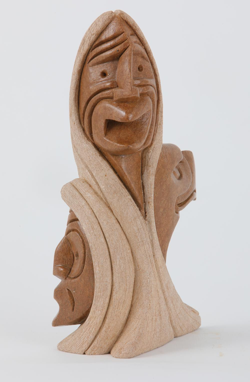 "Steve Powless' ""Eagle - False Faces"" Original Carving"
