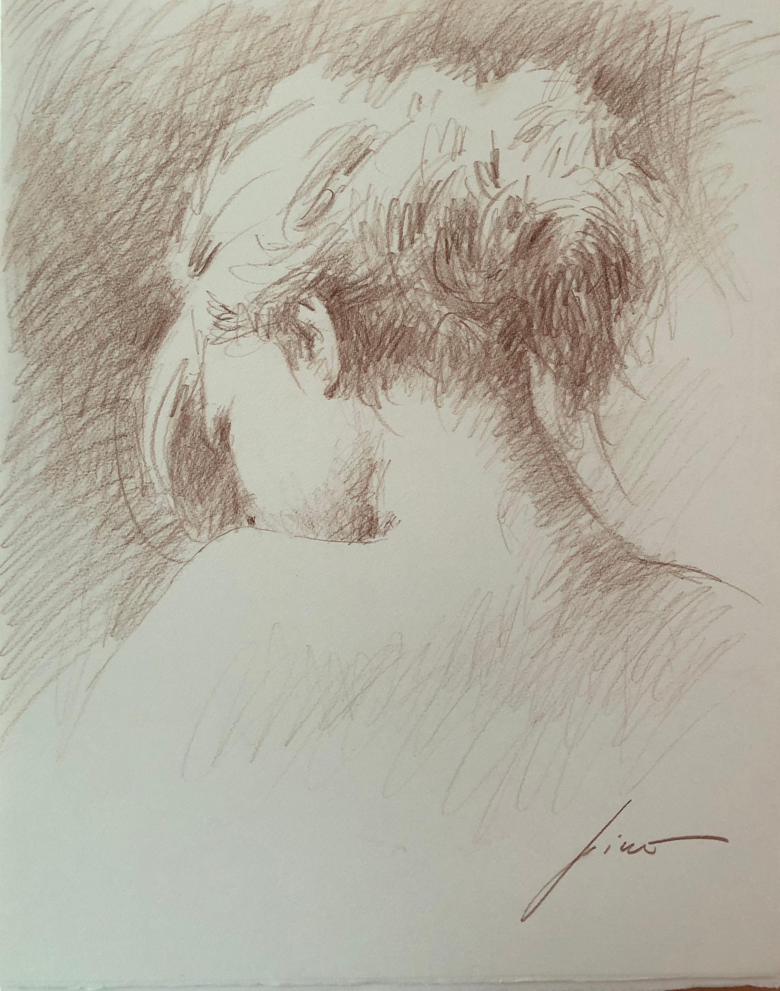 Pino Original Drawing