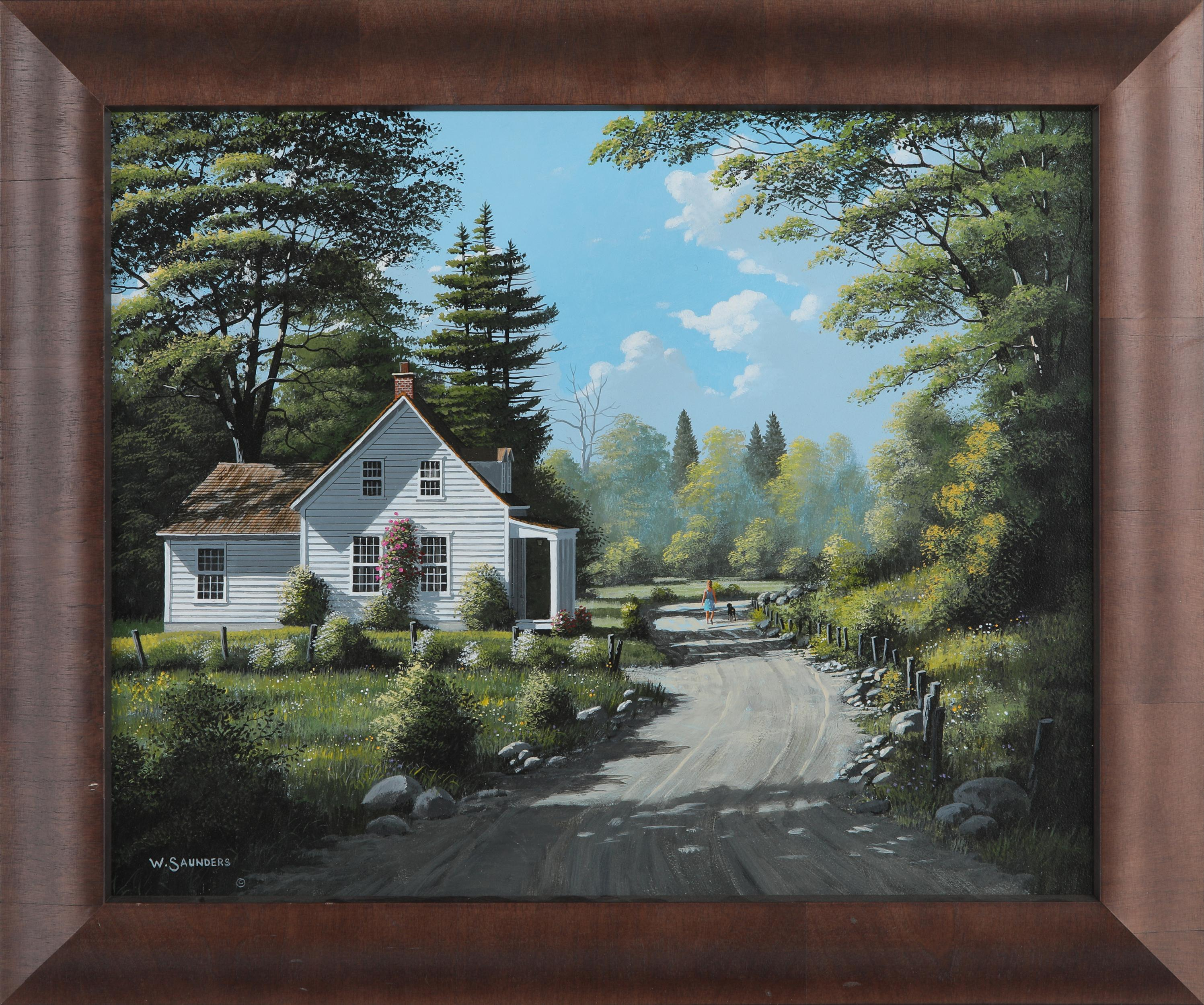 "Bill Saunders' ""White Cottage"" Original"