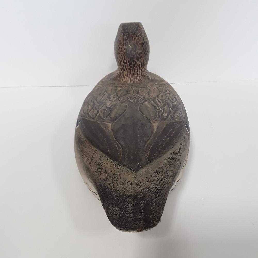 An Original Mallard Hen Decoy Carving