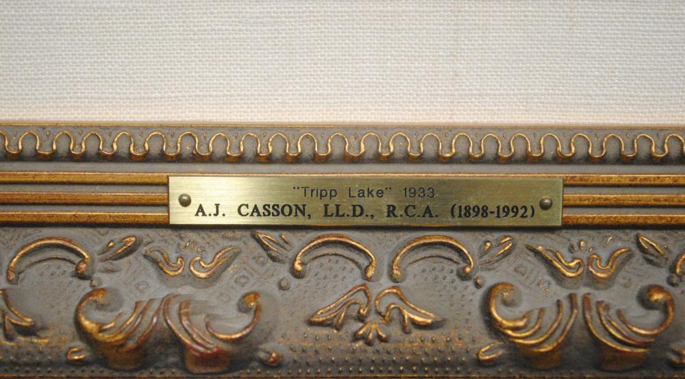 "AJ Casson's ""Tripp Lake"" Framed Original Painting"
