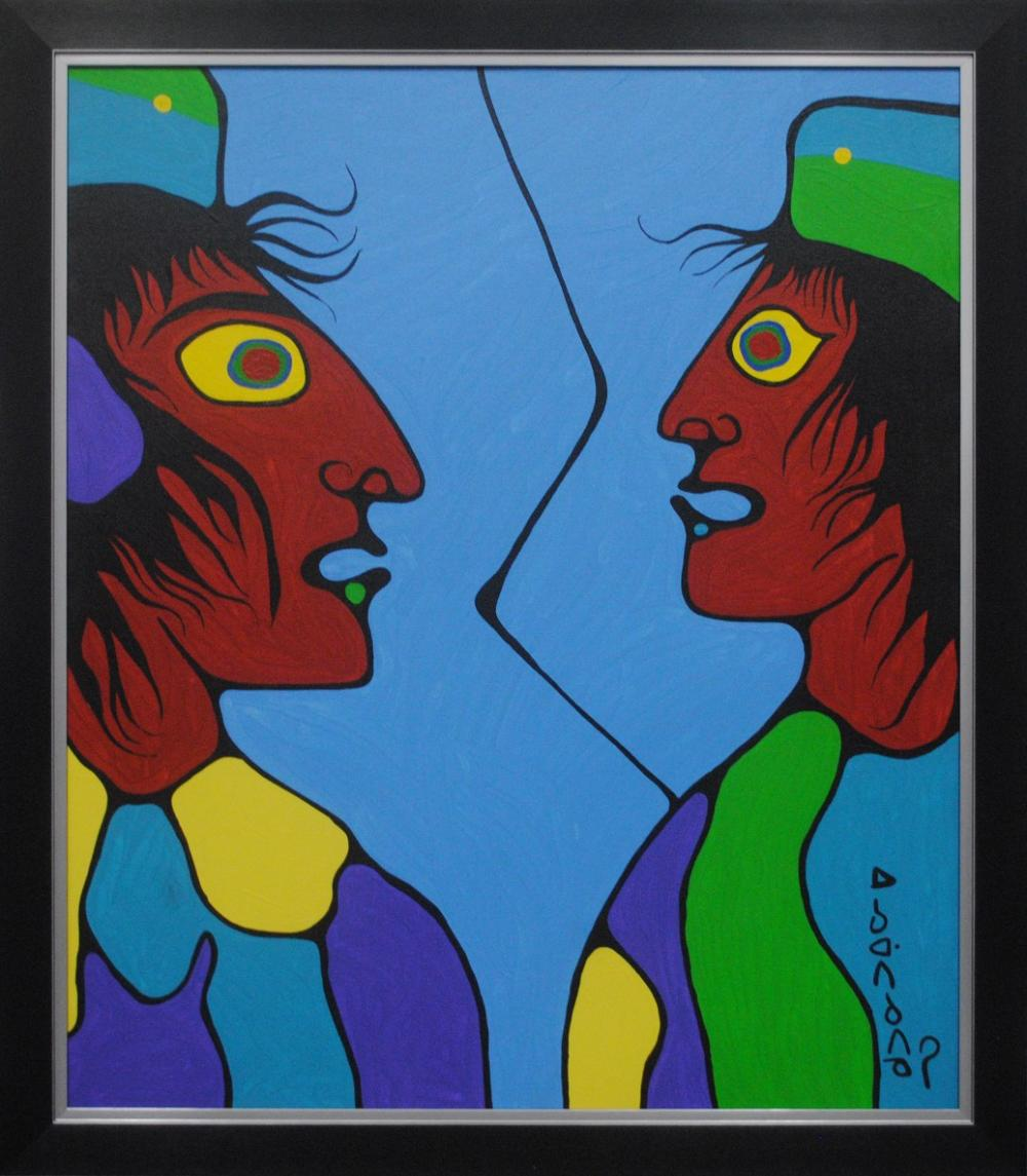"Norval Morrisseau's ""Speaking To My Inner Spiritual Shaman"" Original"
