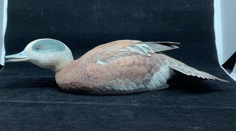 """Don Marion's """"American Widgeon"""" Original Hand Carved Duck Decoy"""