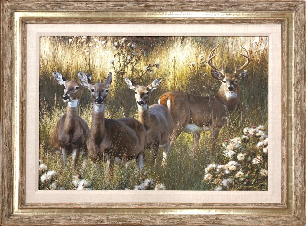 "Carl Brenders' ""Power and Grace"" Framed Original Painting"
