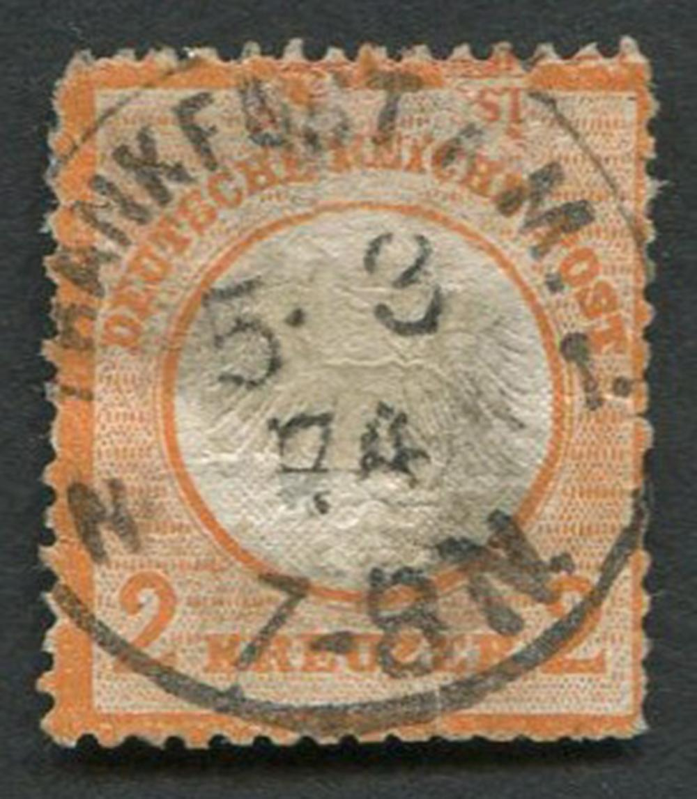 Germany 1872 #22 a4 2kr Orange RARE