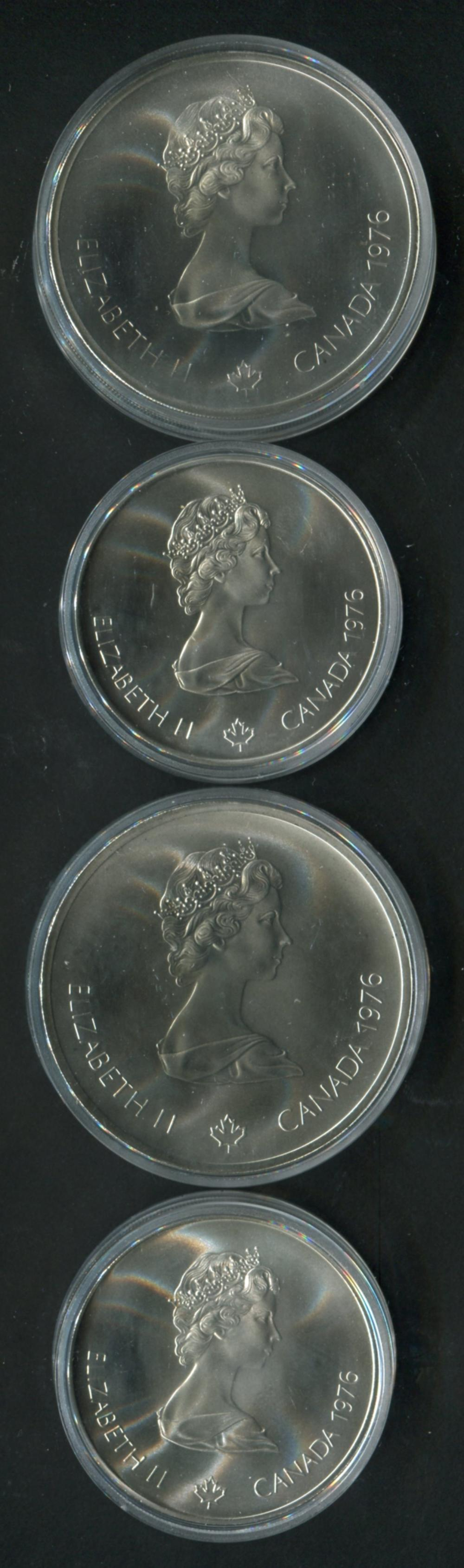 Canada 1976 Olympic Silver Coin Set