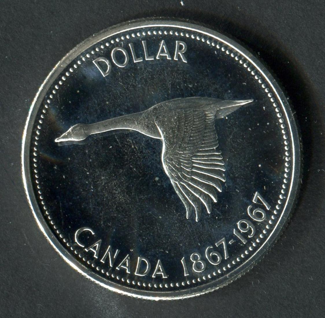 Canada 1967 PL Silver Dollar Rotated Die