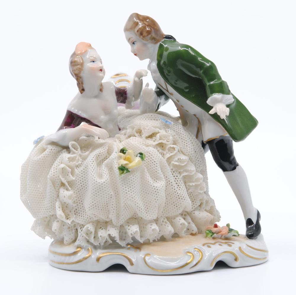 """Unterweissbach """"Lovers"""" Porcelain Figurine Rare Vintage"""