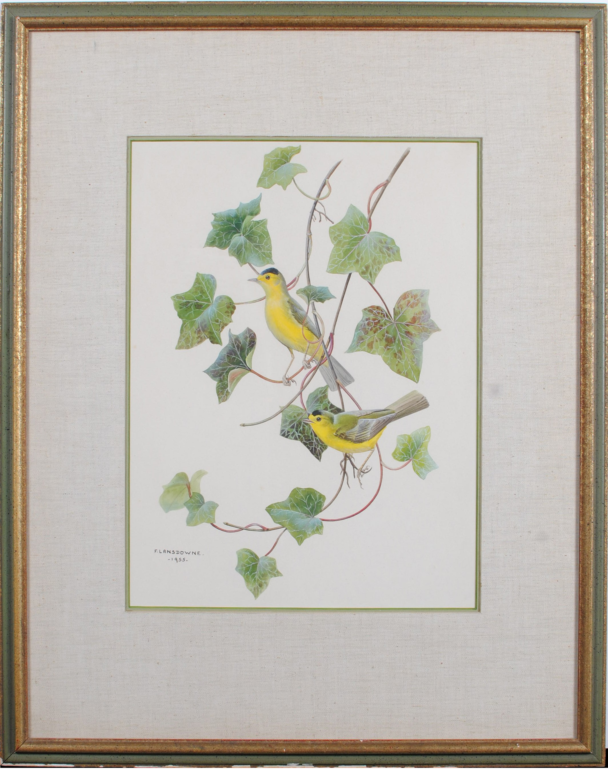 "Fenwick Lansdowne's Goldfinches"" Original Painting"