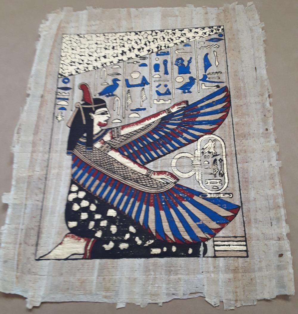 An Egyptian Themed Papyrus Paper Print