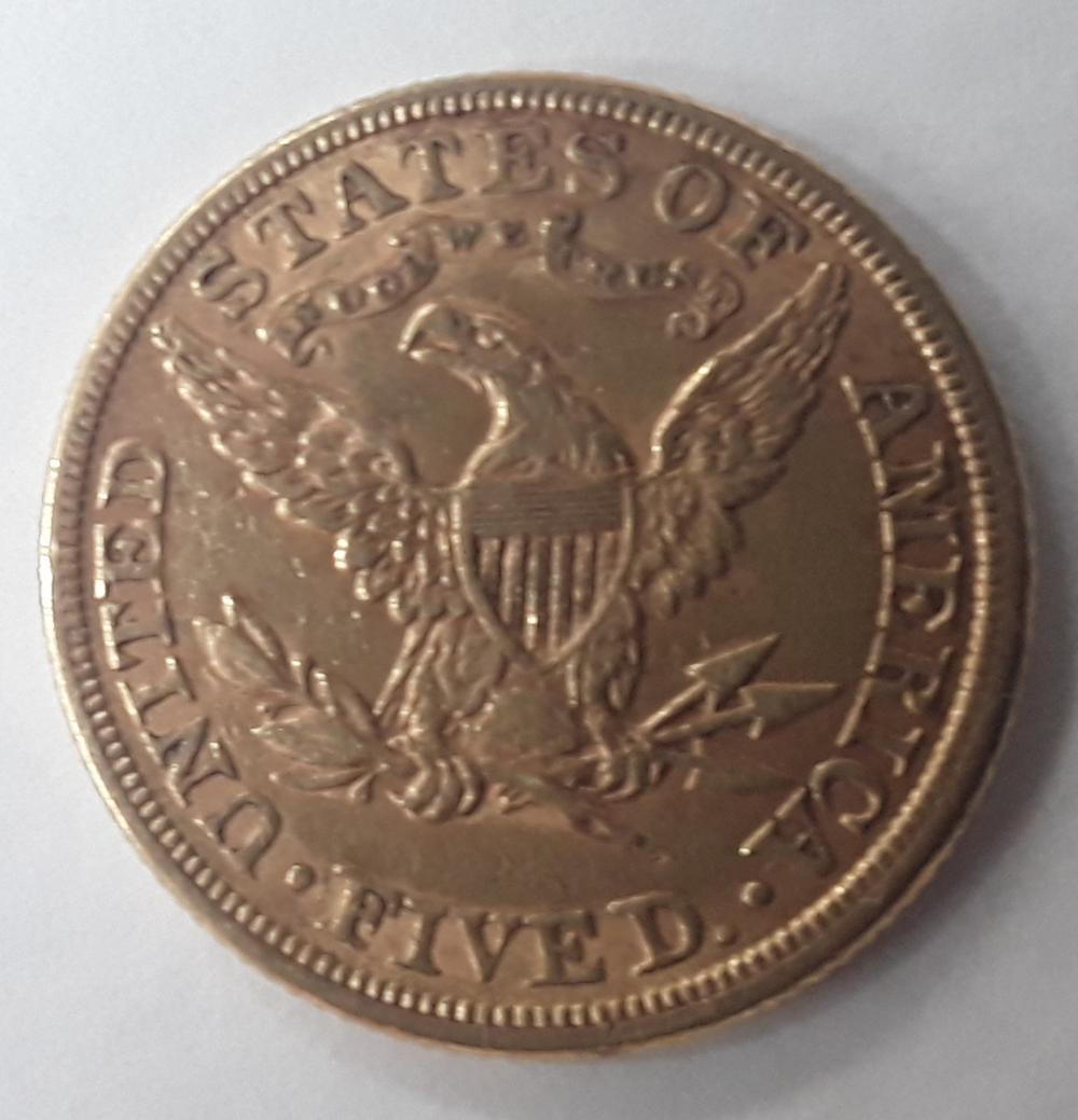United States (US) - 1881 $5 Gold Coin