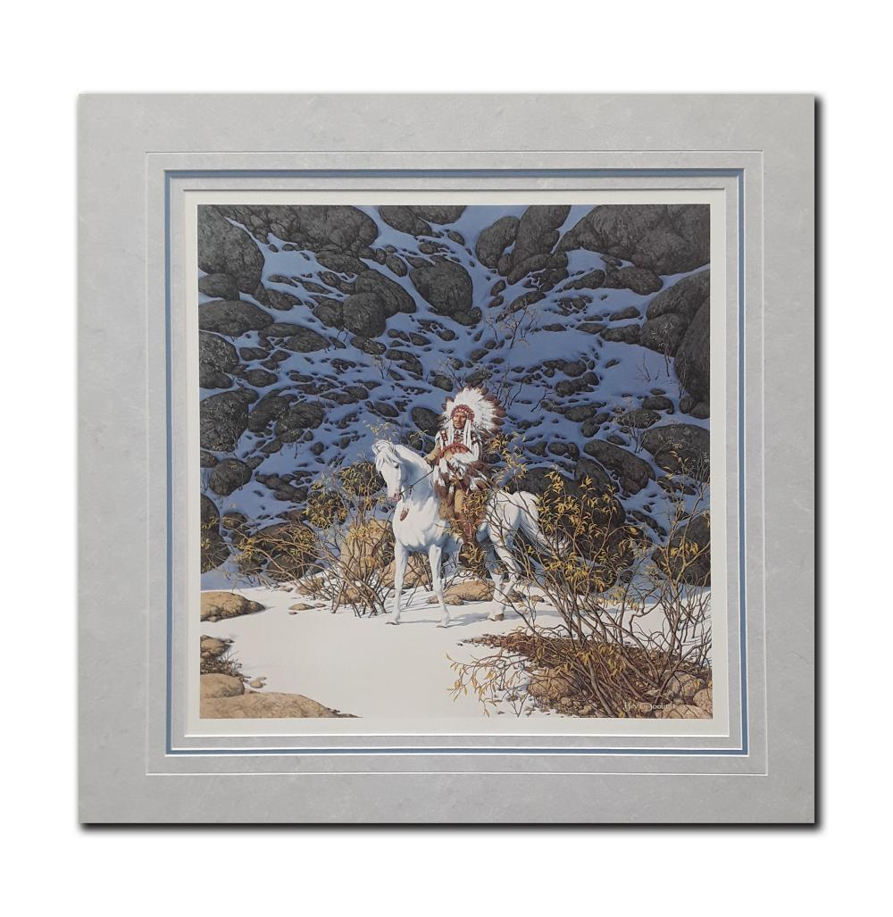 "Bev Doolittle's ""Eagle Heart"" Limited Edition Matted Print"