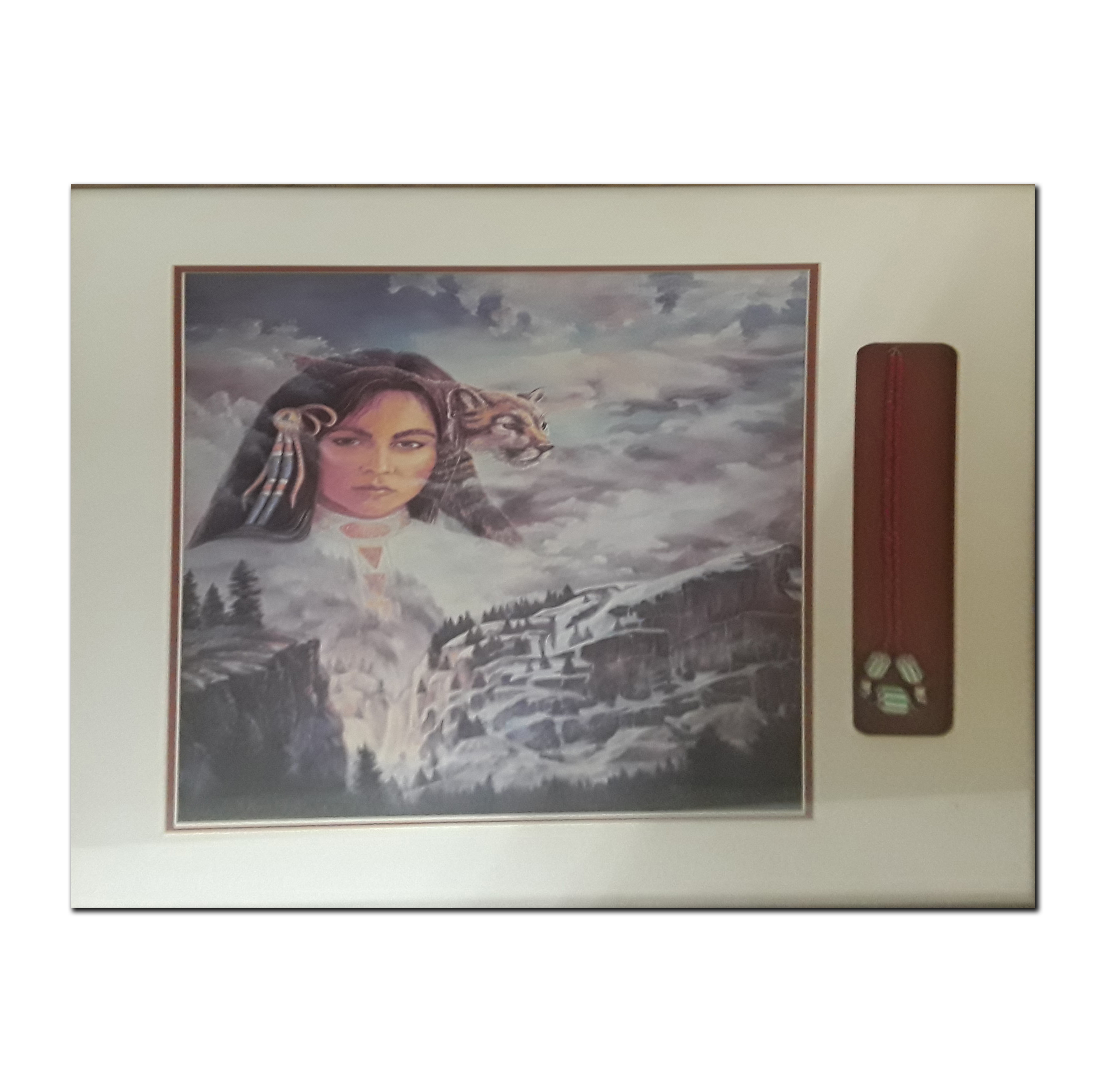 Native American Themed Framed Print With Accompanying Necklace (Art and Artifacts)