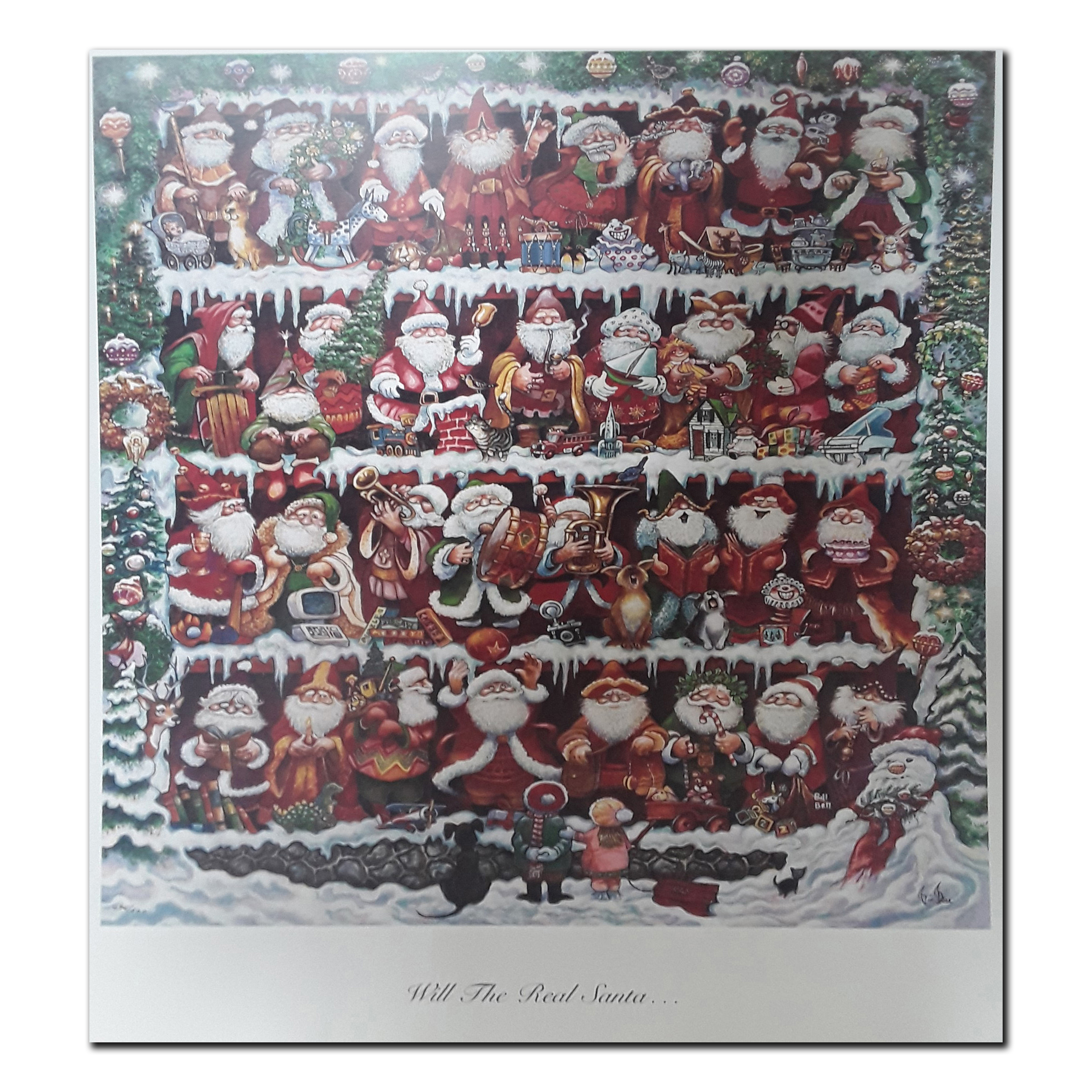 """Bill Bell's """"Will The Real Santa..."""" Limited Edition Print"""