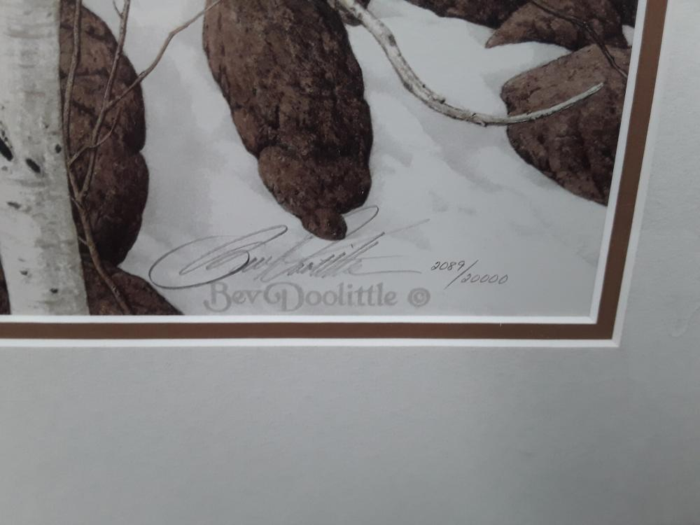 "Bev Doolittle's ""Three More For Breakfast"" Limited Edition Framed Print"
