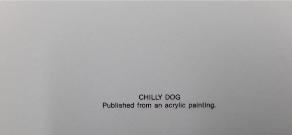 "Amy Brackenbur's ""Chilly Dog"" Limited Edition Print"