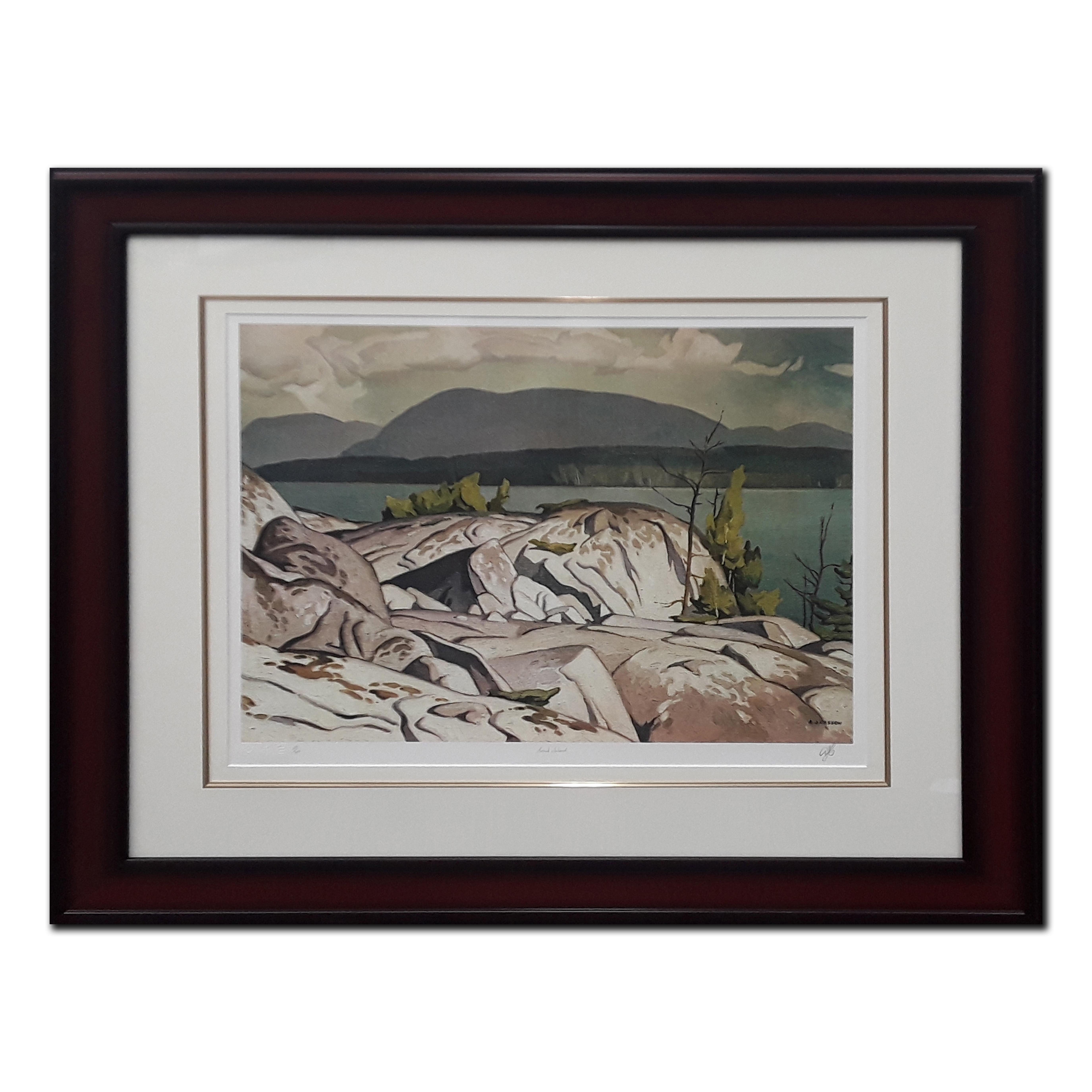 "AJ Casson's ""Birch Island"" Limited Edition Framed Print"