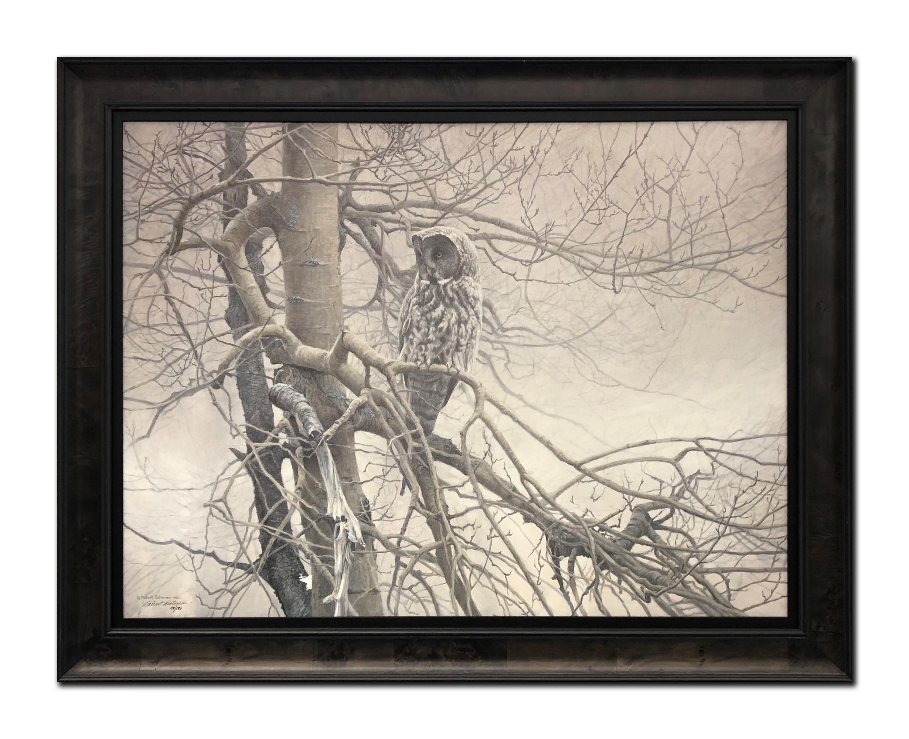 "Robert Bateman's ""Ghost Of The North- Great Grey Owl"" Limited Edition Framed Canvas"