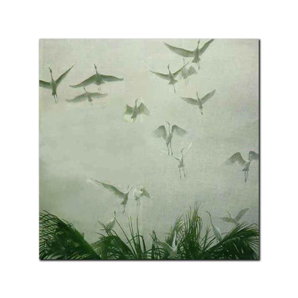 """Robert Bateman's """"Egrets Of The Sacred Grove"""" Limited Edition Canvas Showstopper"""