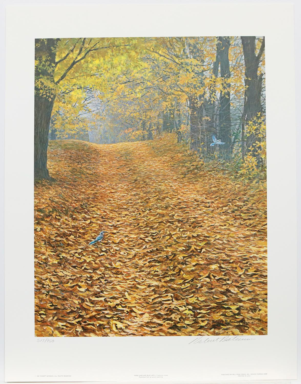"Robert Bateman's ""Farm Lane and Blue Jays"" Limited Edition Print Signed and Numbered"
