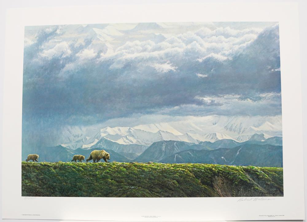 "Robert Bateman's ""Along The Ridge - Brizzly Bear"" Limited Edition Print Signed and Numbered"