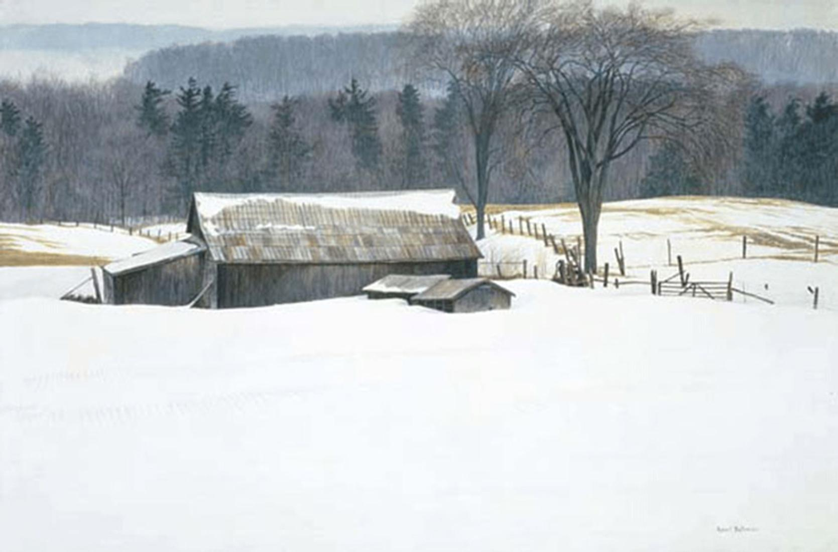 "Robert Bateman's ""Along Walkers Line"" Limited Edition Canvas Signed And Numbered"